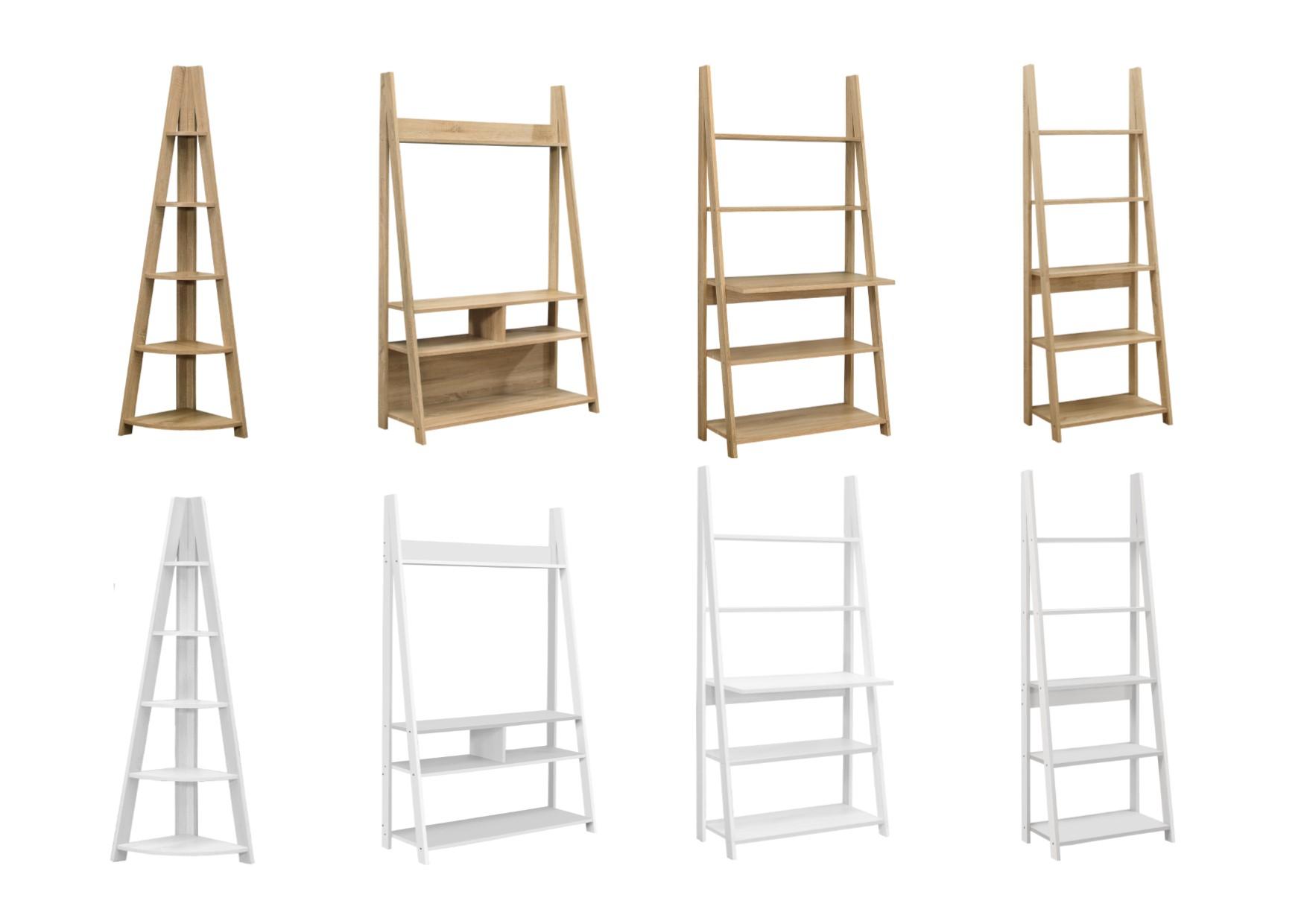 bf7c966896c4 Birlea Wooden Nordic Ladder Bookcase Shelving Storage & Desks in Oak ...
