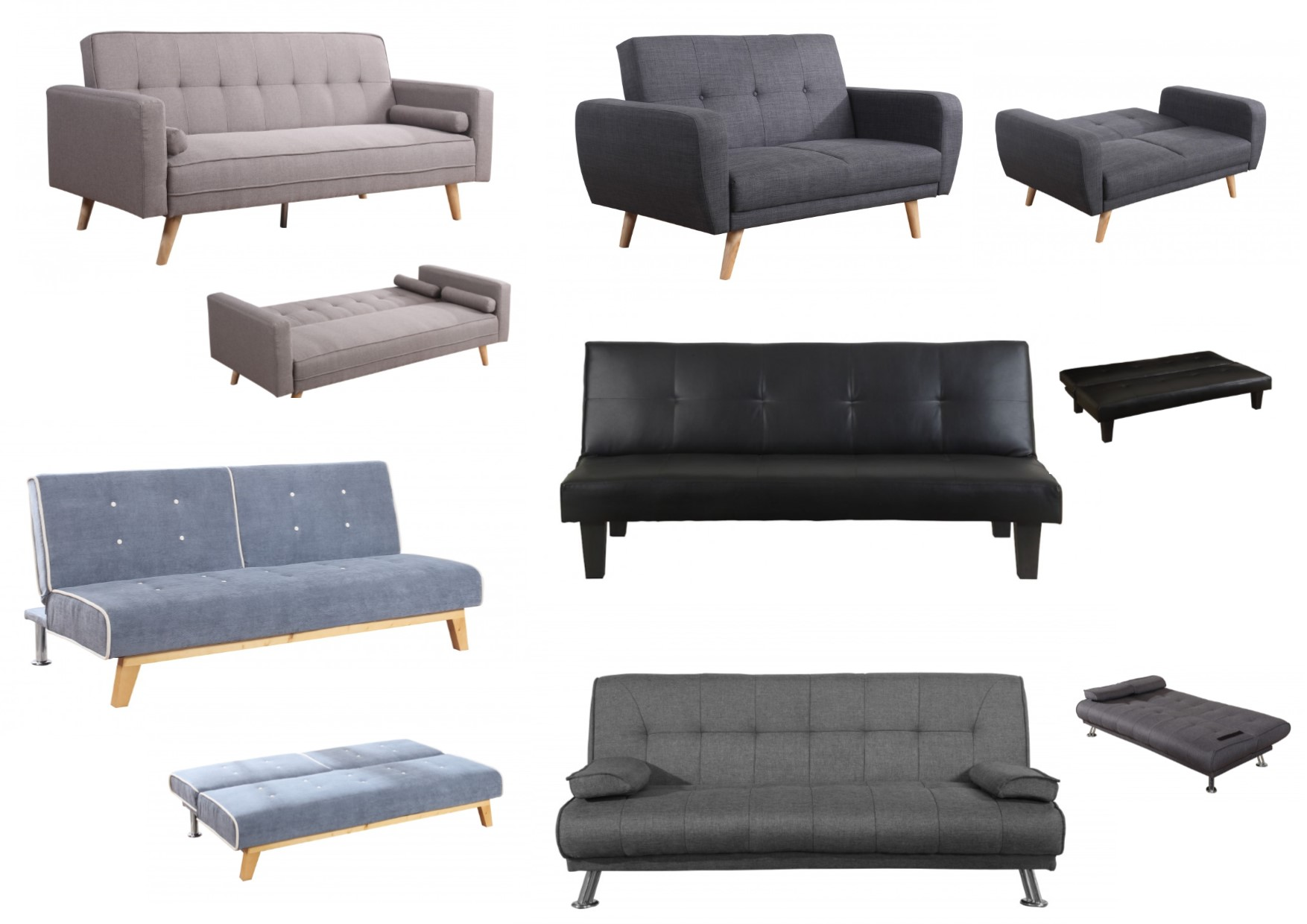 Tremendous Details About Birlea Fabric And Faux Leather Sofa Bed Collection Grey Black Brown Ibusinesslaw Wood Chair Design Ideas Ibusinesslaworg