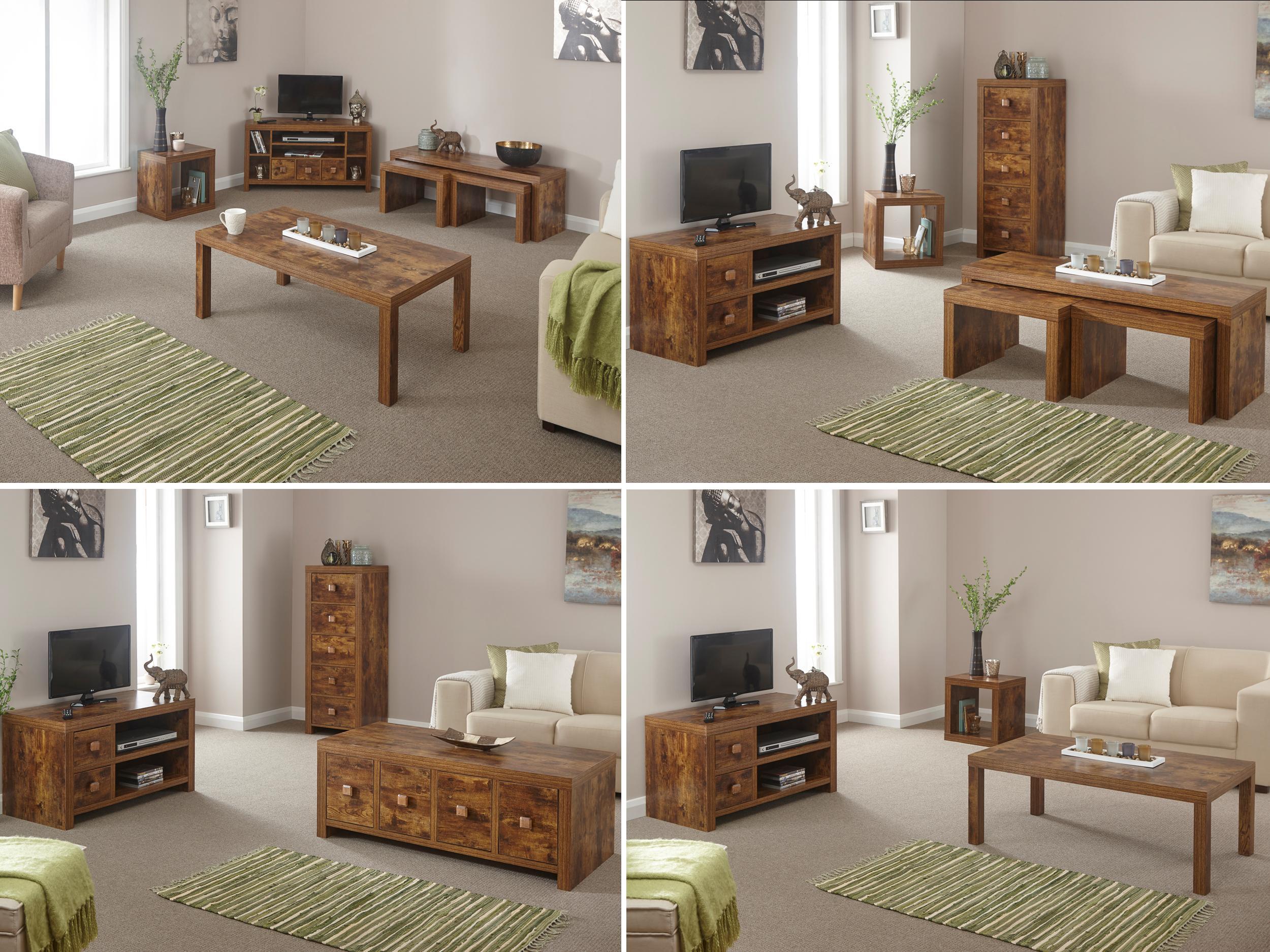 Jakarta Mango Living Room Furniture Range TV Units Coffee Table