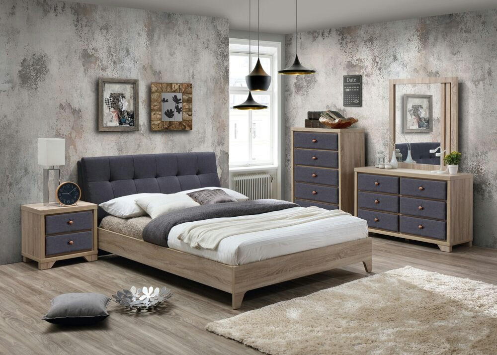 Sensational Details About Artisan Beds Grey Fabric Beech Bedroom Range Beds Drawers Dresser Sets Download Free Architecture Designs Terchretrmadebymaigaardcom