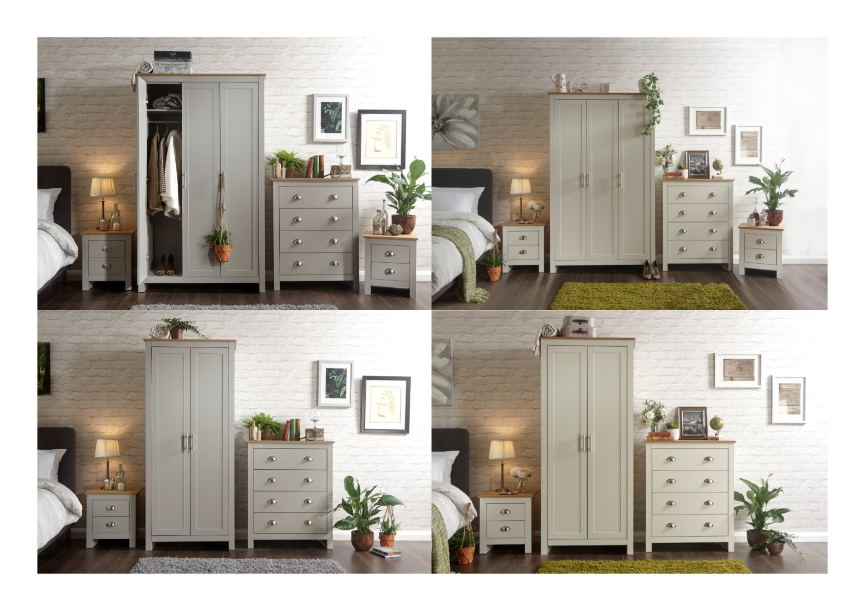 Lancaster Bedroom Furniture Sets   3 Or 4 Piece Wardrobes, Chests Of  Drawers, Bedside Table, Dressing Table, Desk
