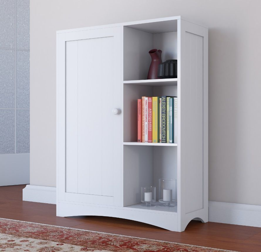 With Its Painted White Finish This Cabinet Shelves Is Perfect For The Kitchen And Bathroom But Can Be Equally At Home In Other Rooms Your House