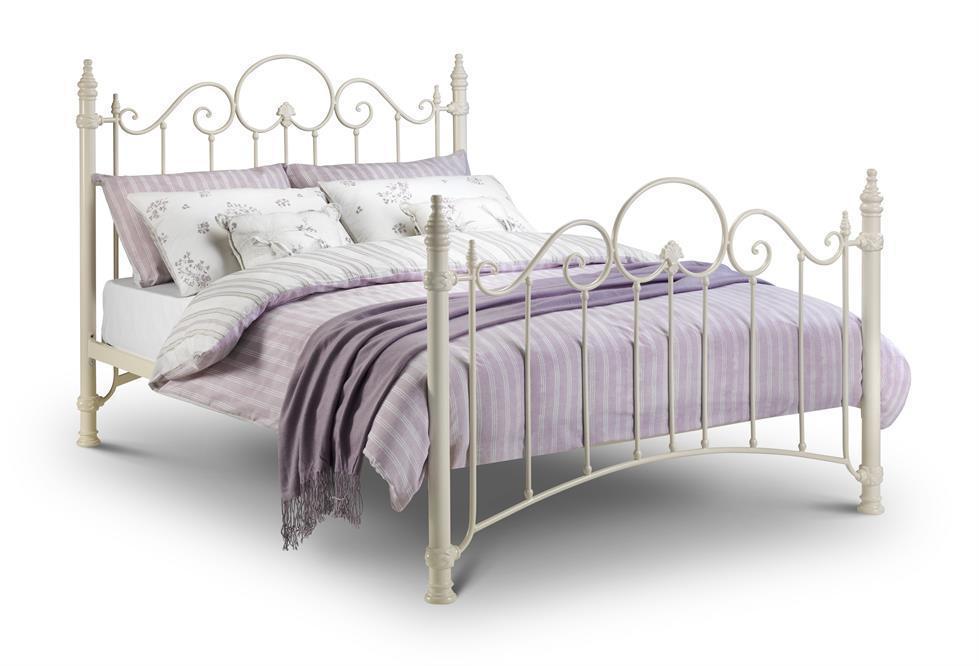 julian bowen florence victorian style metal bed frame single