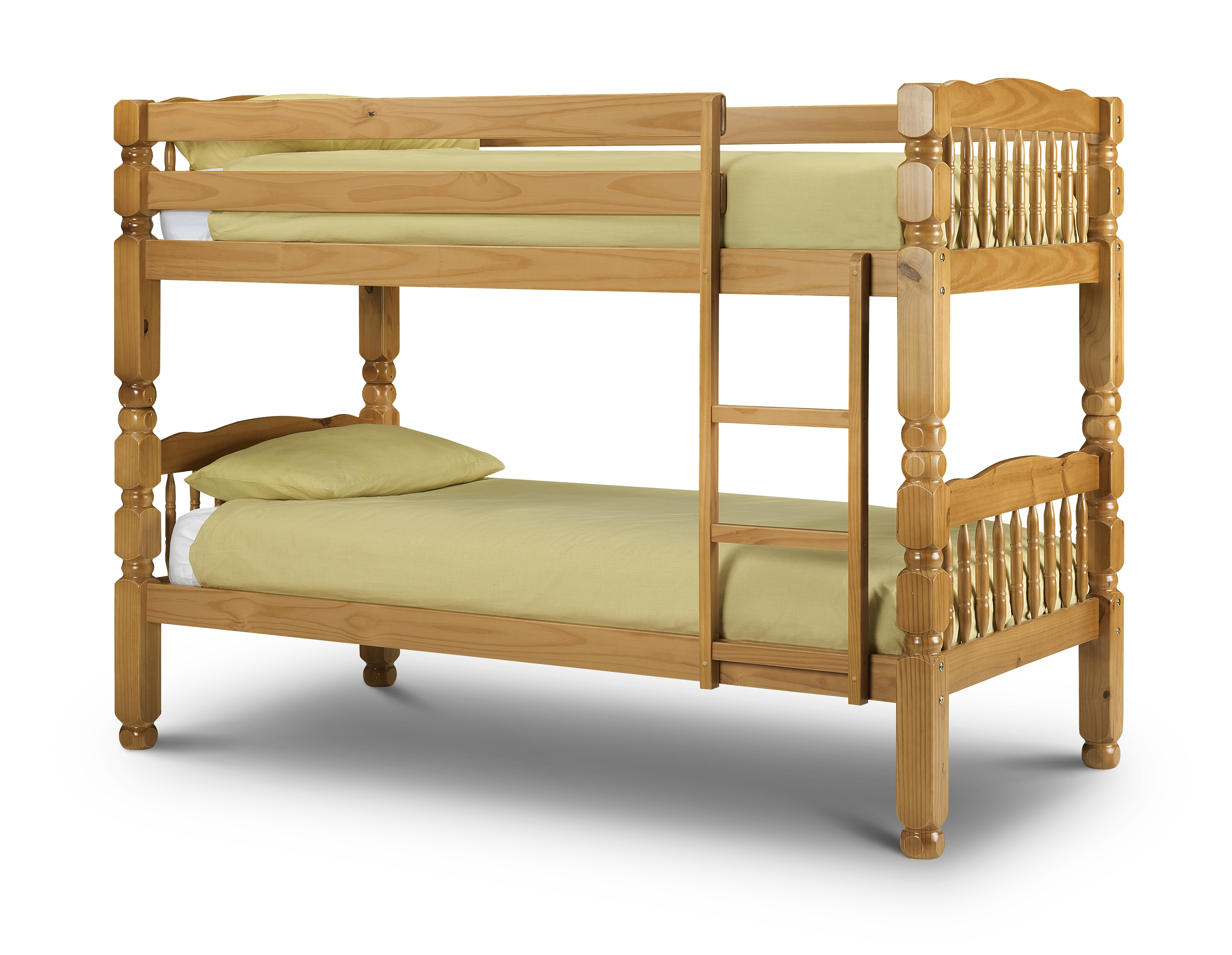 Julian Bowen Chunky Solid Pine Bunk Bed Antique Lacquered Finish