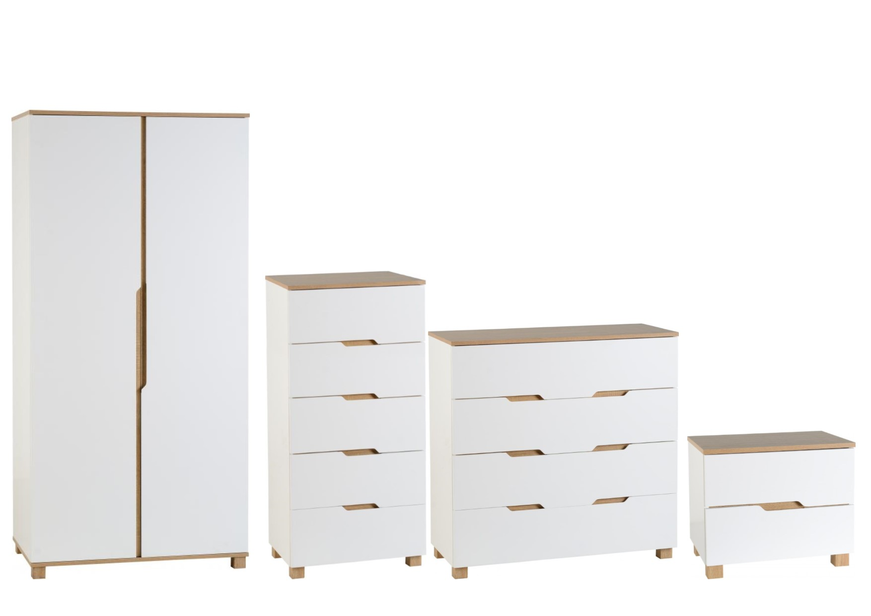 Portsmouth White Oak Coloured Bedroom Furniture Wardrobes - Bedroom furniture portsmouth