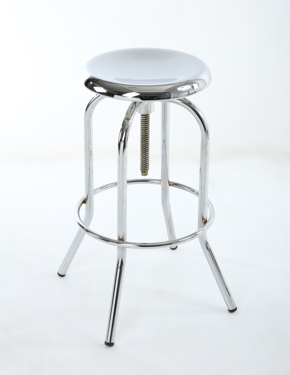 Mercury Polished Chrome Adjule Bar Stool Retro Style