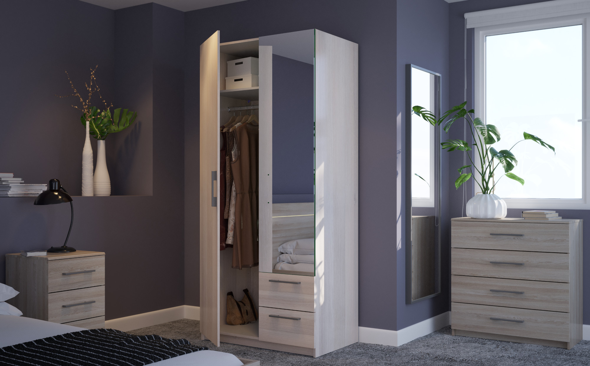 New York Light Oak Bedroom Furniture