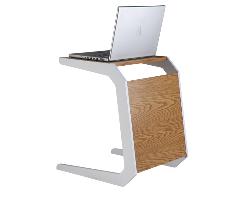 Quadro Oak And White Laptop Workstation Desk Stand Home Office Work From Sofa