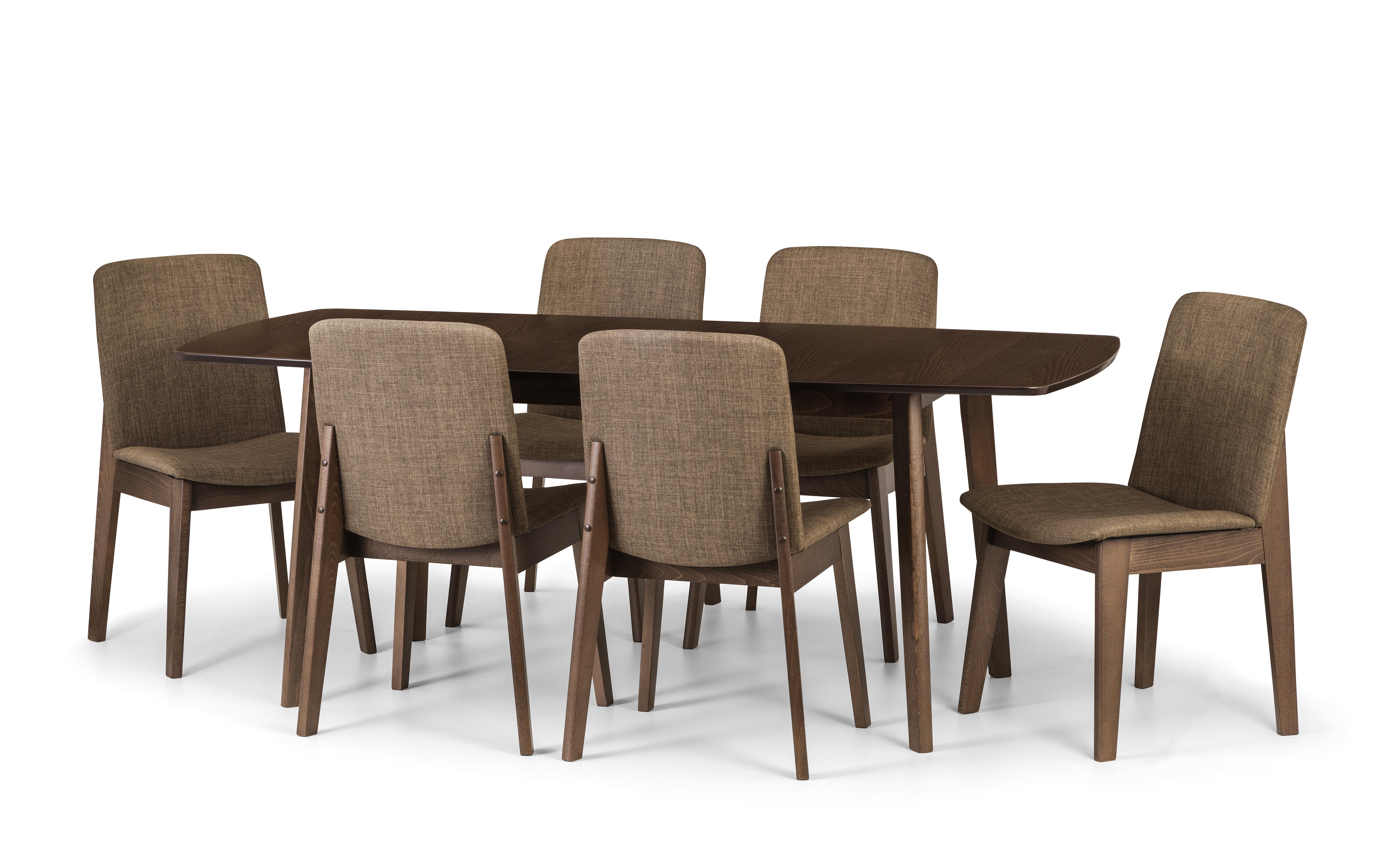 Julian bowen kensington extending dining table chairs walnut finish