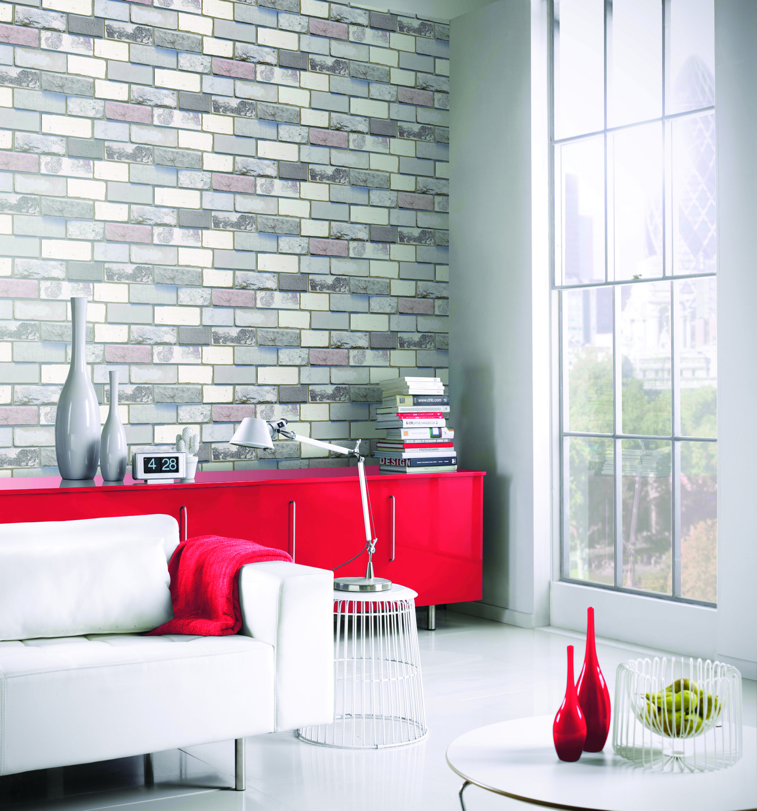 Details About Arthouse 3d Effect Industrial Grey Brick Wallpaper 698800