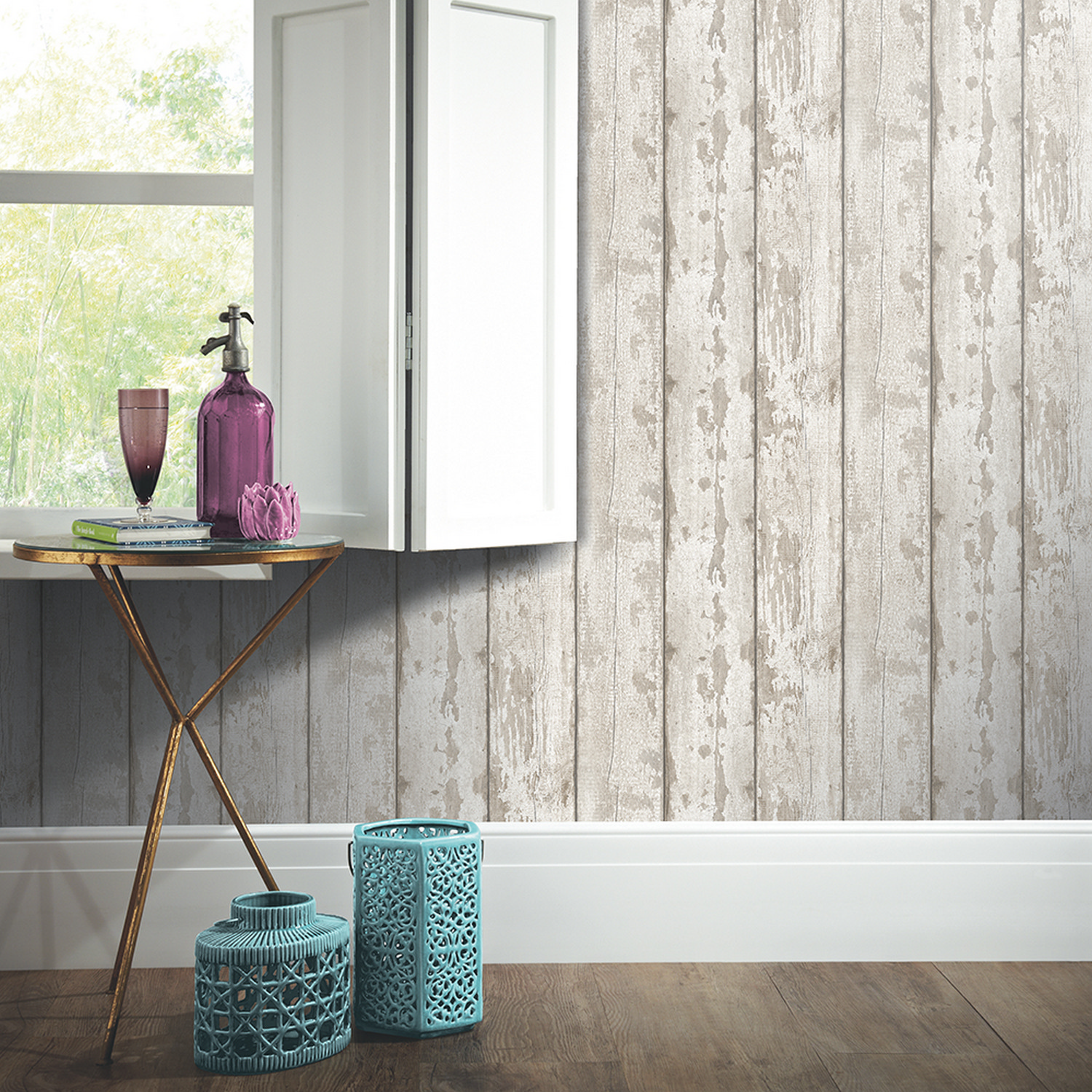 Arthouse Rustic Wood Heart Natural Shabby Chic Feature Wallpaper SAMPLE 669600
