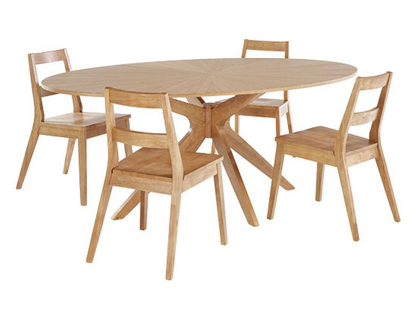 Phenomenal Details About Malmo Dining Set Dining Table 4 Chairs White Oak Starburst Scandinavian Cjindustries Chair Design For Home Cjindustriesco