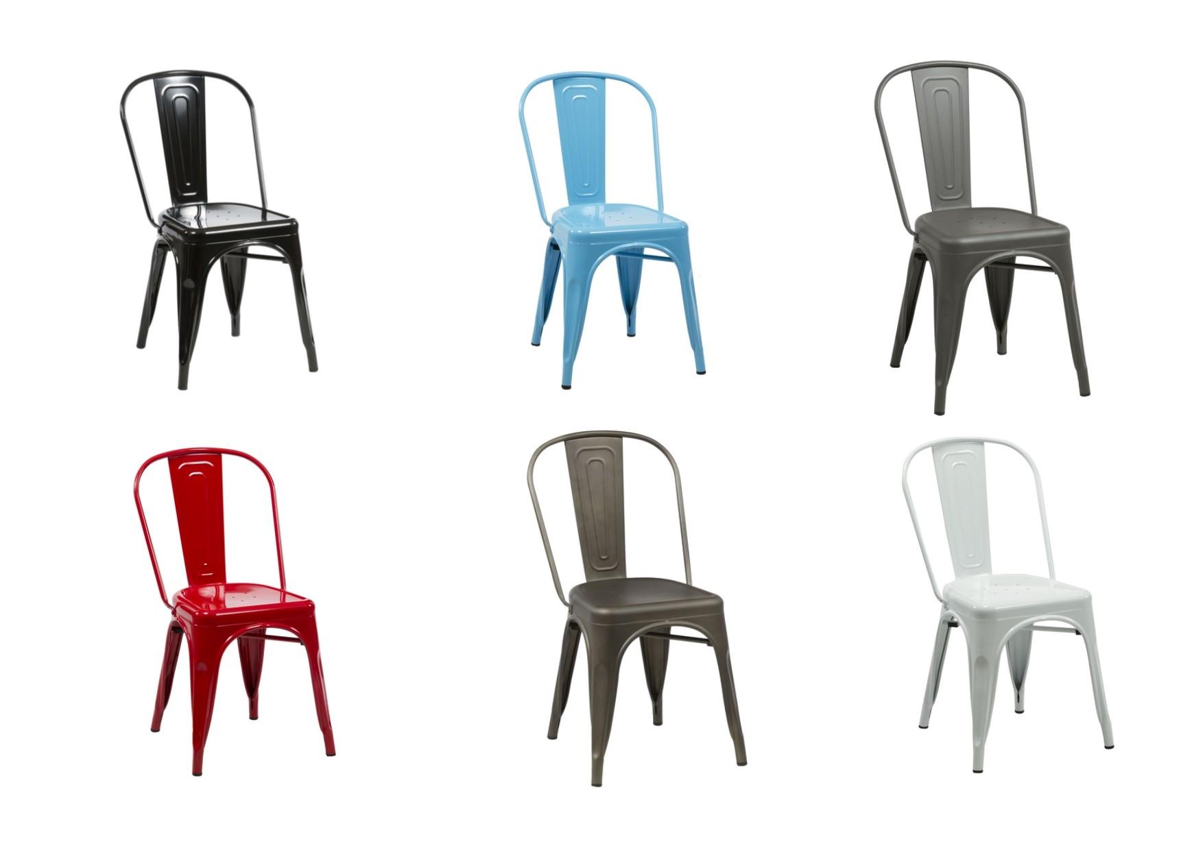birlea vasper retro metal bistro chairs black white blue red