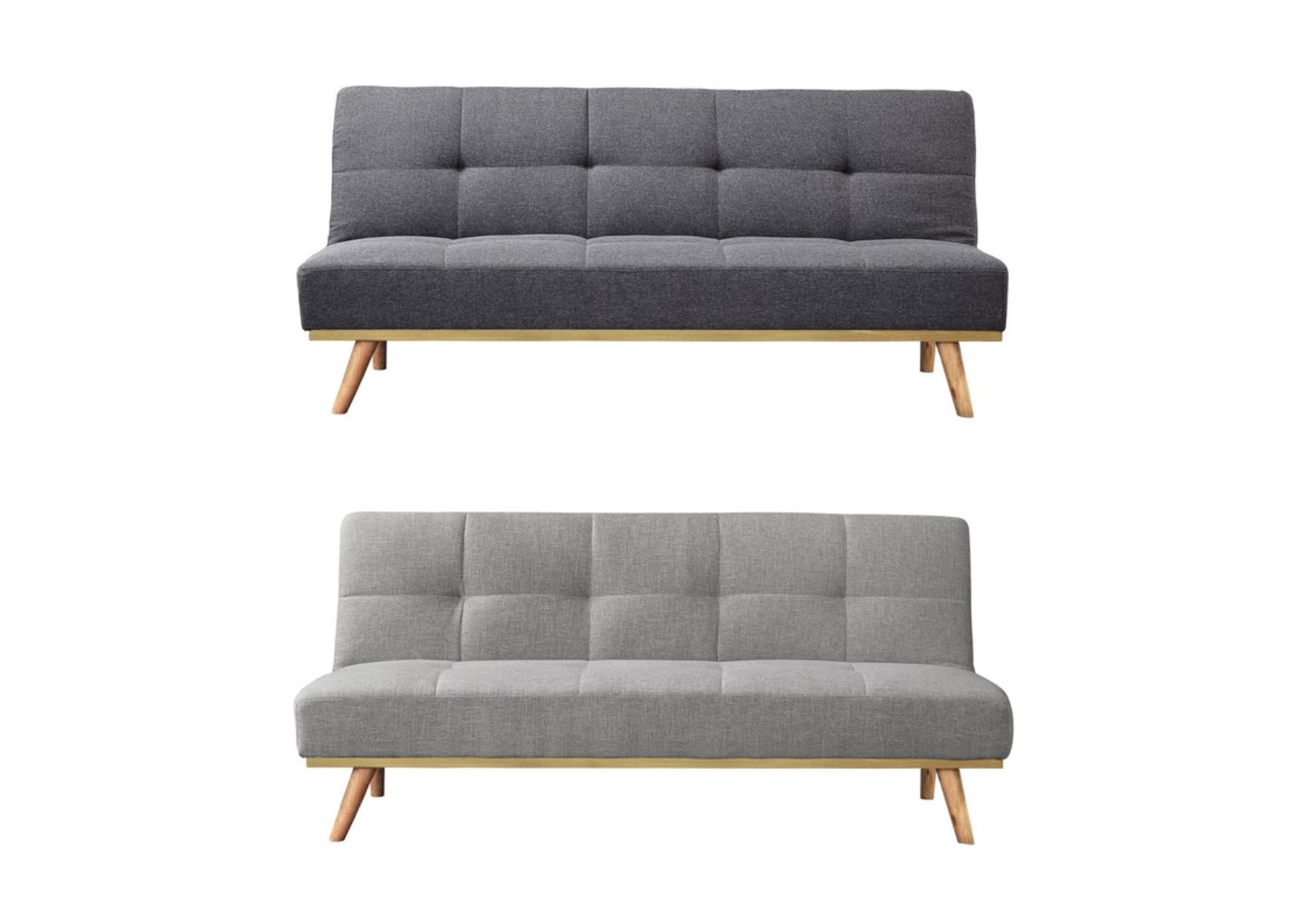 Pleasant Details About Birlea Snug Fabric Sofa Bed Wood Frame Soft Touch Fabric Light Or Dark Grey Ocoug Best Dining Table And Chair Ideas Images Ocougorg