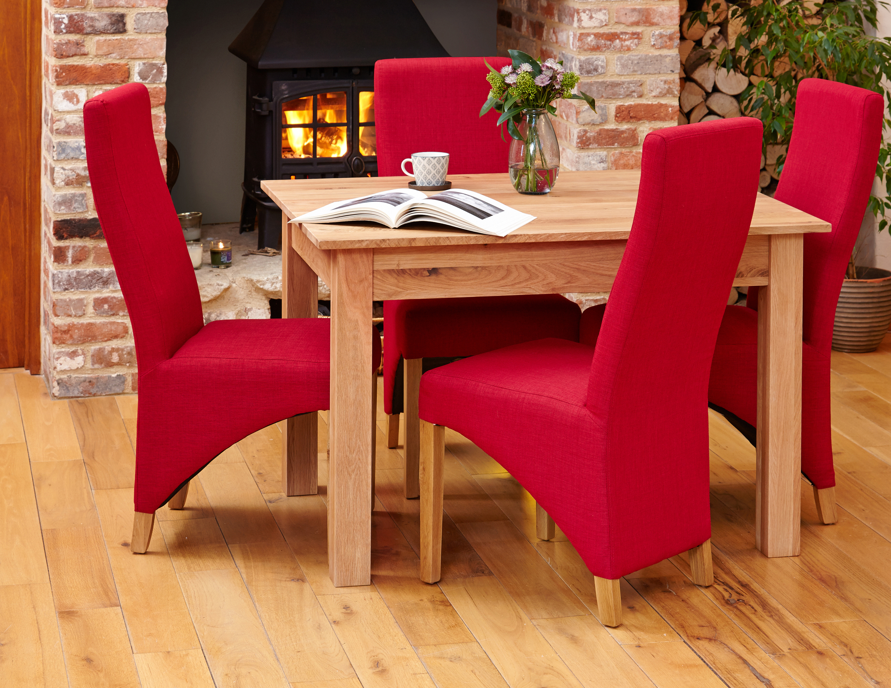 baumhaus mobel oak dining table 4 seater solid oak 120cm 4ft