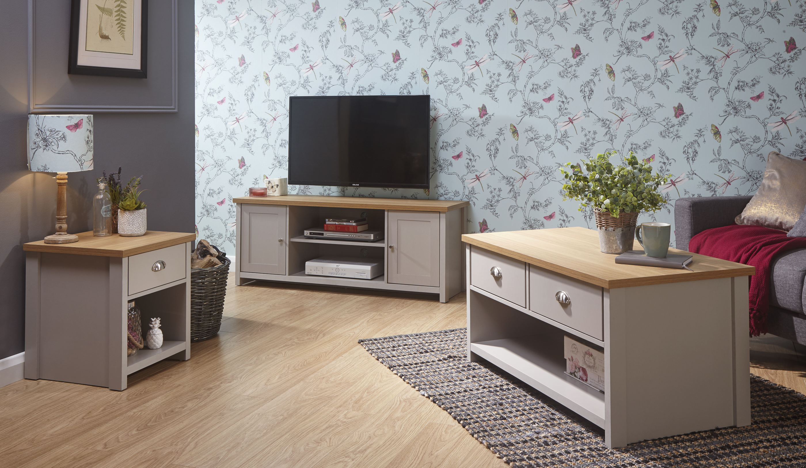 Lancaster Living Room Range Tables Sideboard Tv Cabinets Cream Grey Oak The Consists Of Items To Complete Look Your Home