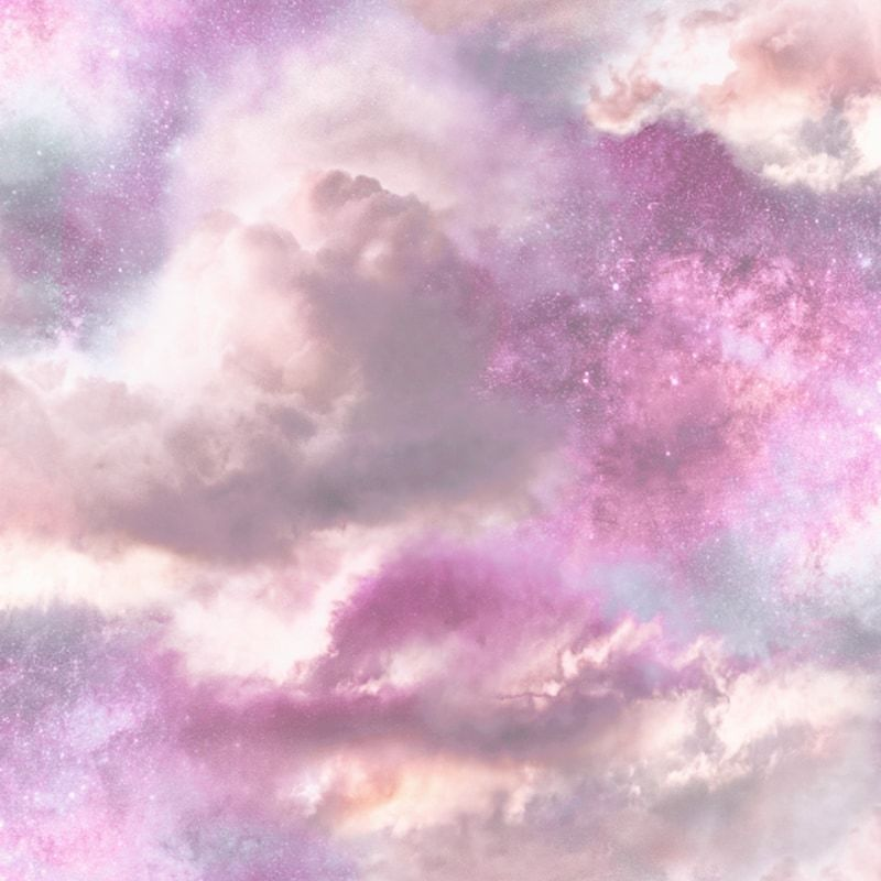 Arthouse Diamond Galaxy Cloud Wallpaper 260009 Pastel Pink
