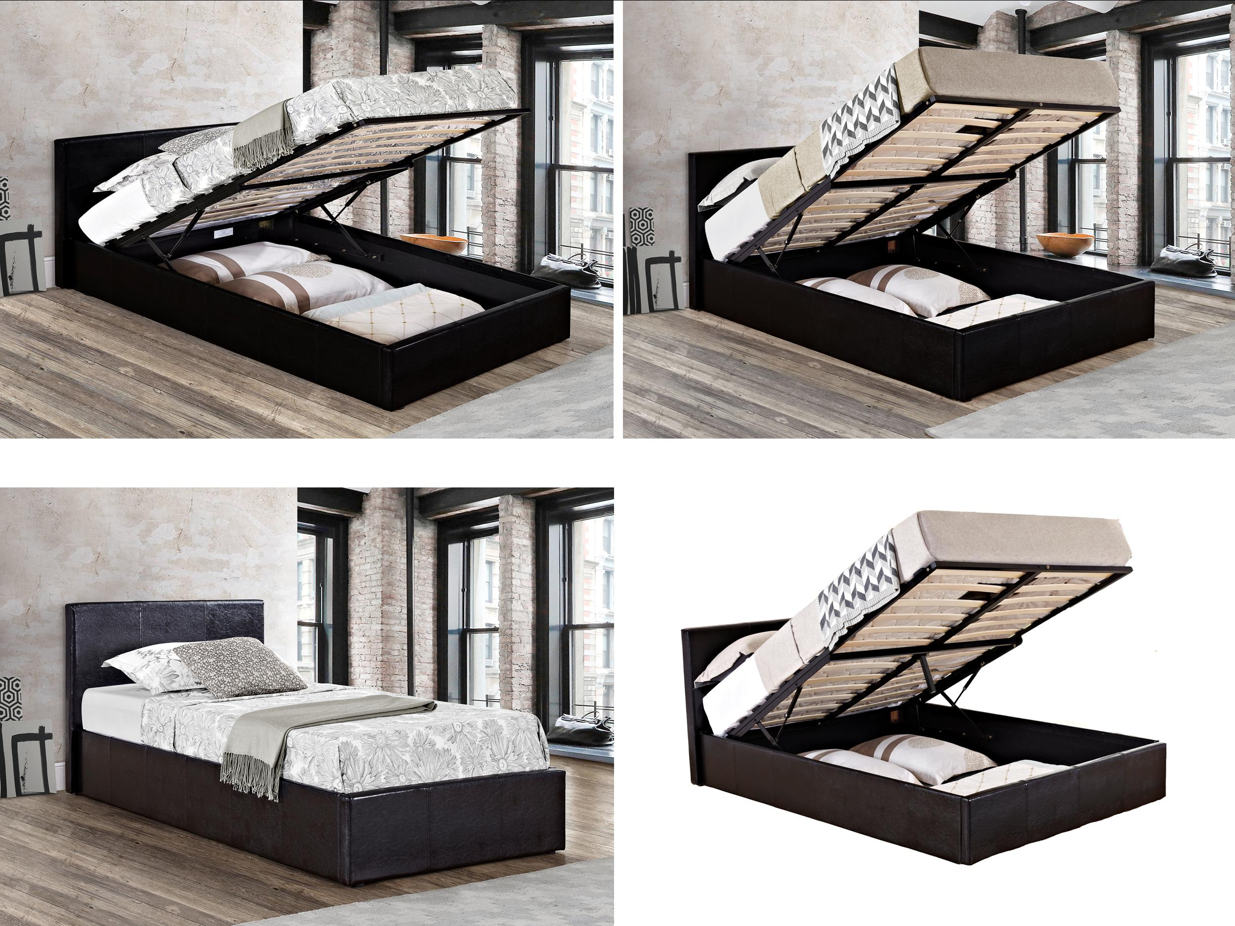 Birlea Ottoman Bed Gas Lift Up Storage Beds All Sizes Black Or