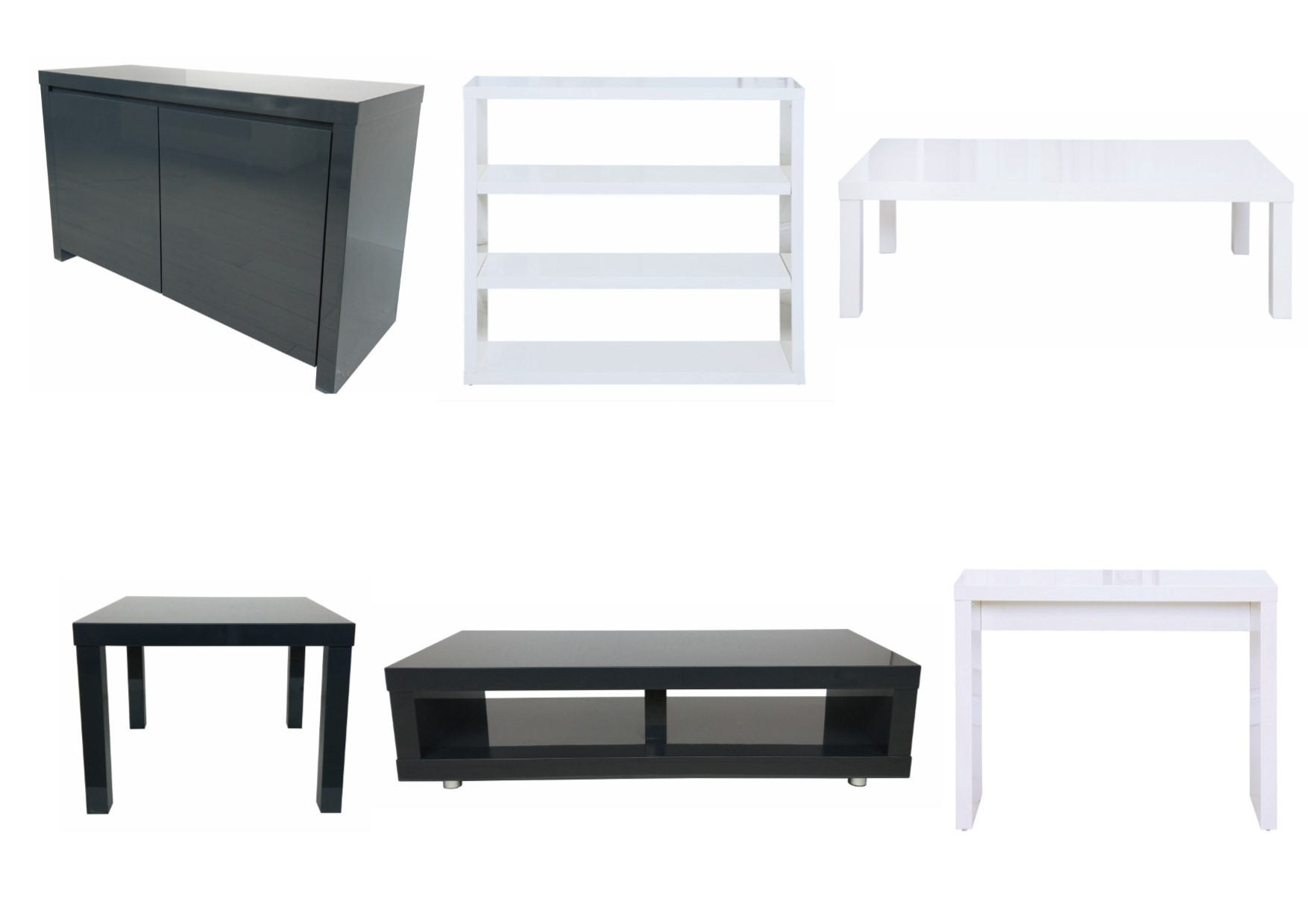 Puro High Gloss Living Room Furniture - Tables Storage TV Stand ...