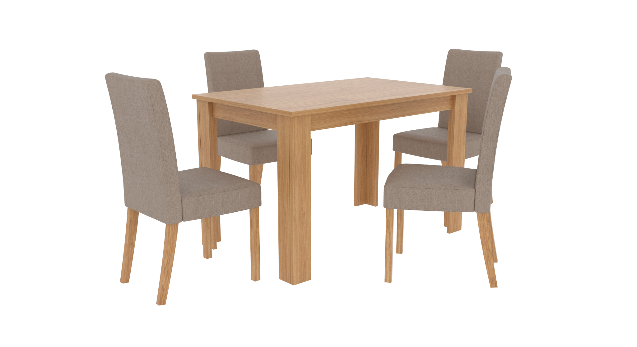 7121c999ca57 LPD Atlanta Oak Effect 4 Seater Dining Table - Excellent Value Budget Table