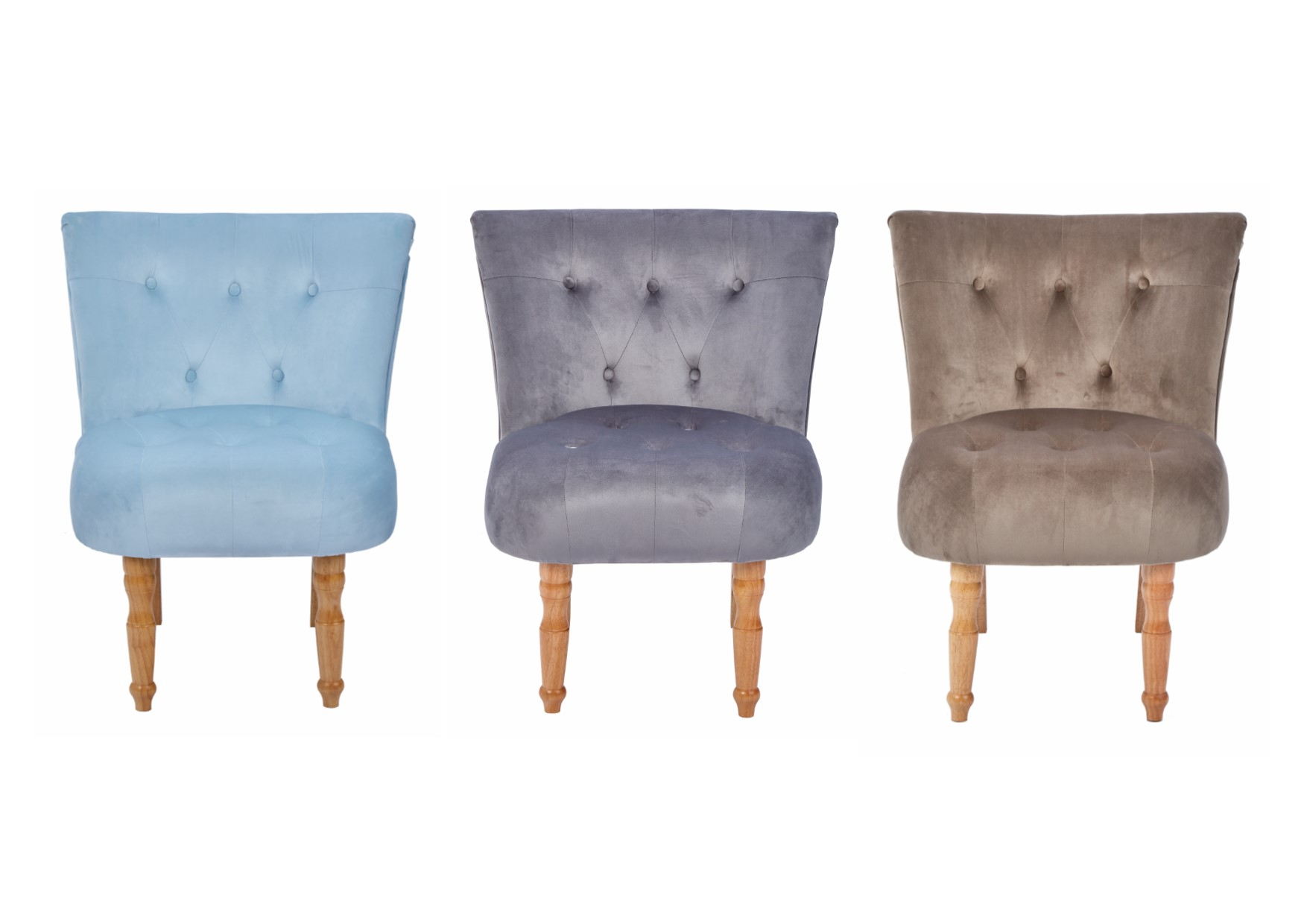 LPD Lydia Traditional Style Occasional Chair   Cappuccino, Duck Egg Blue,  ...