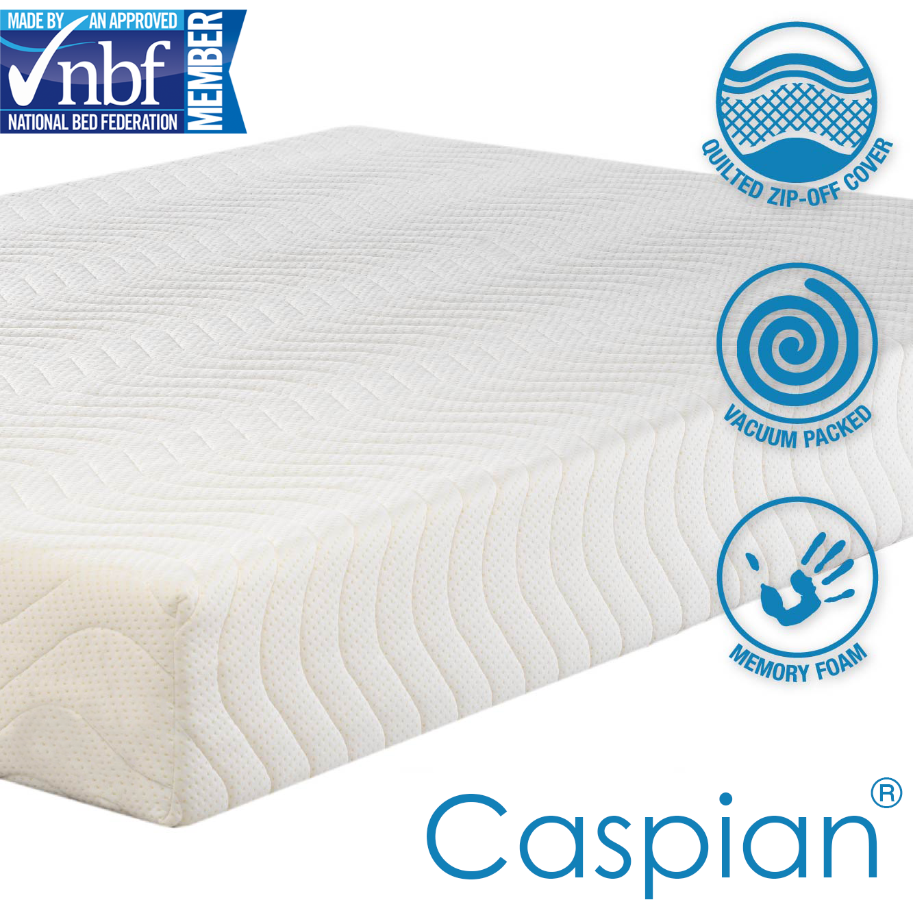 mattress icon png. Caspian® Memory Foam Mattress - Quilted Ortho Cool Hypoallergenic All Sizes NEW Icon Png H