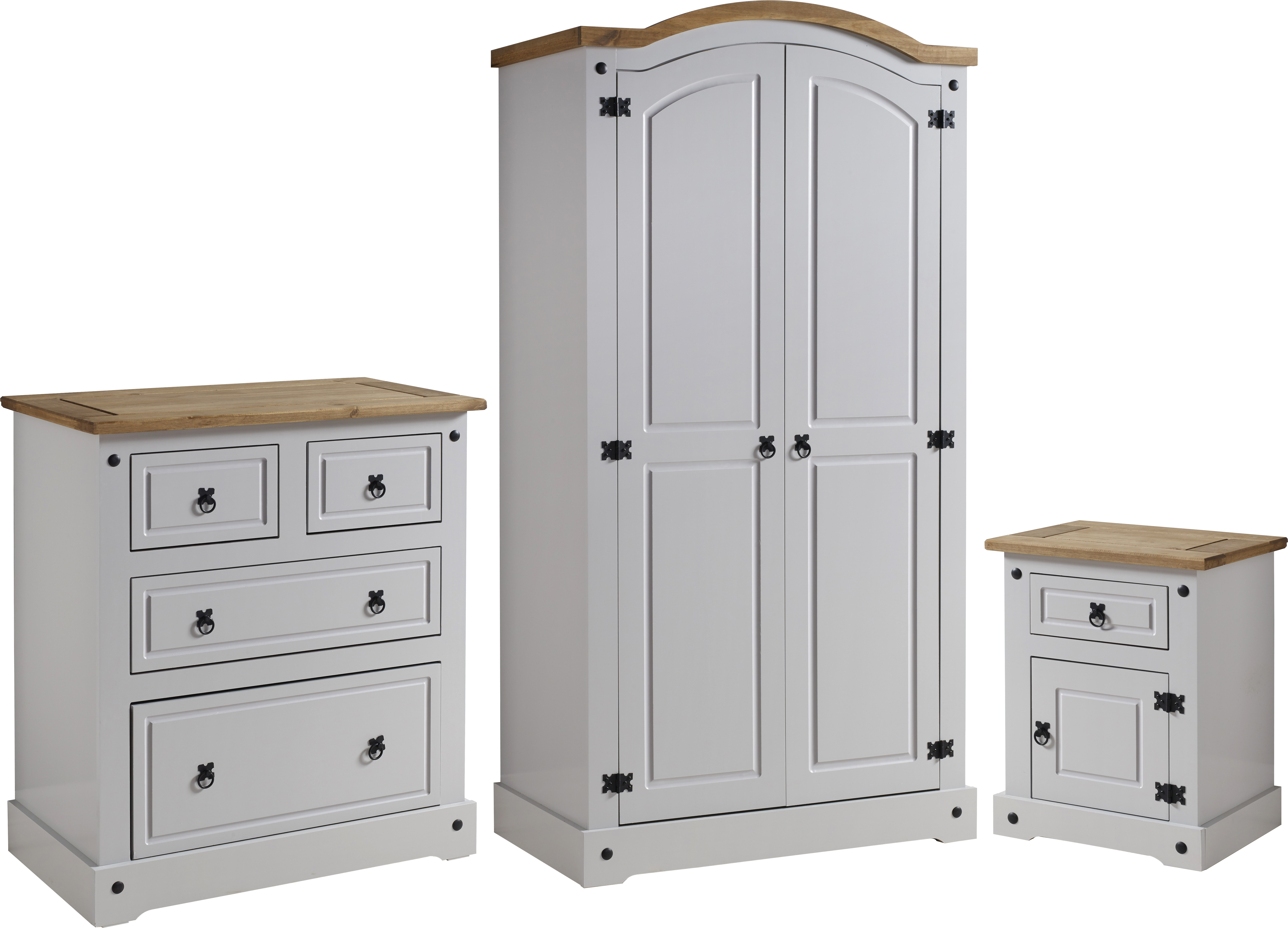 oak furniture triple solutions wardrobe tuscany grey soft