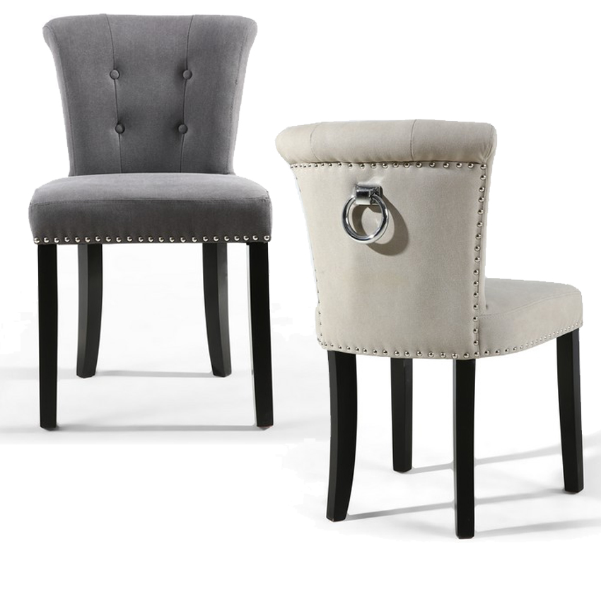 Pictures On Grey Ring Back Dining Chair