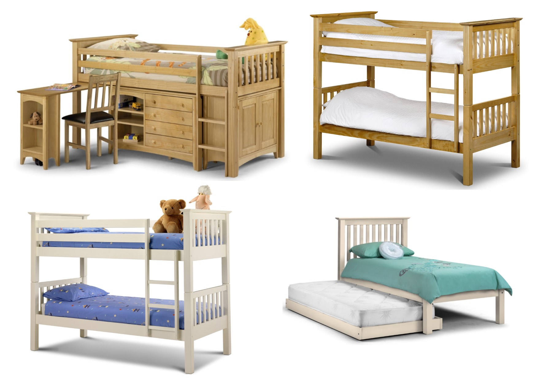 Julian Bowen Barcelon Childrens Beds Bunk Hideaway