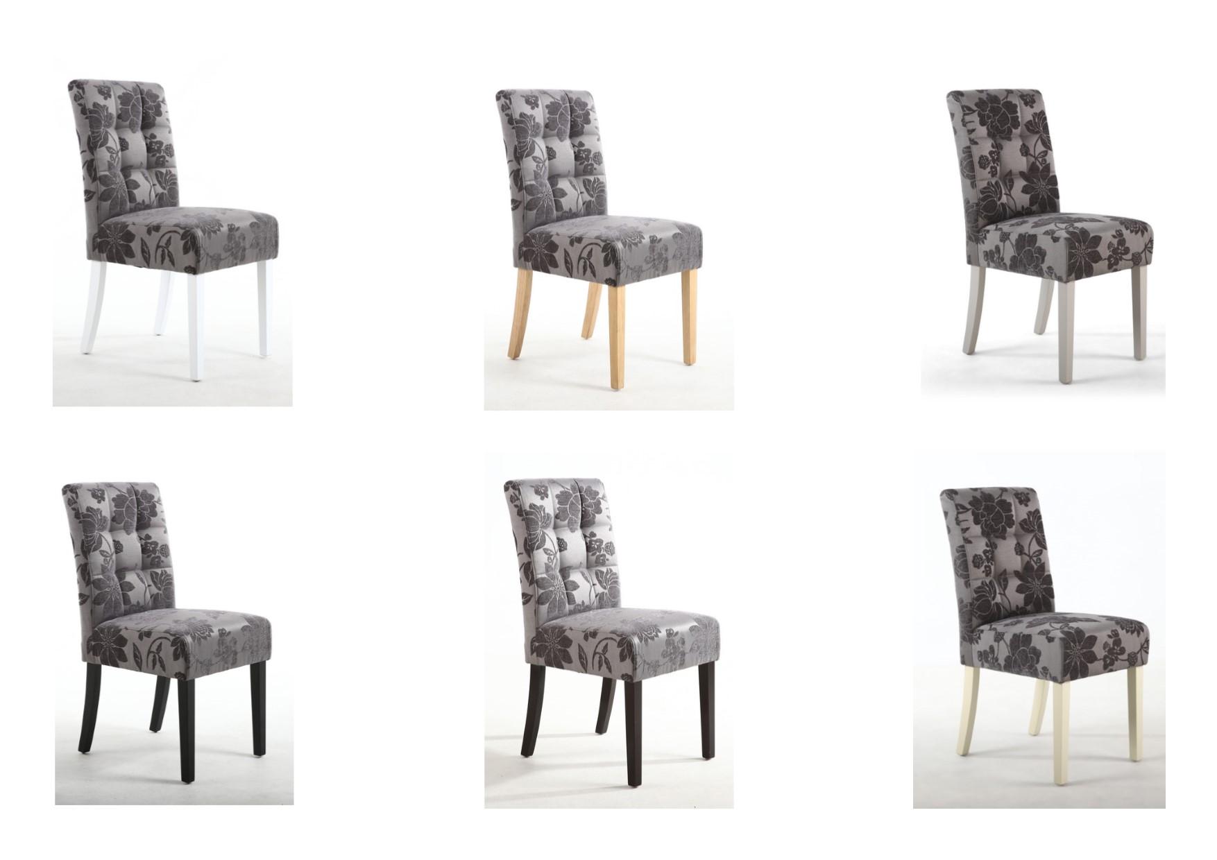 2x shankar stitched waffle back dining chairs grey damask six rh ebay co uk
