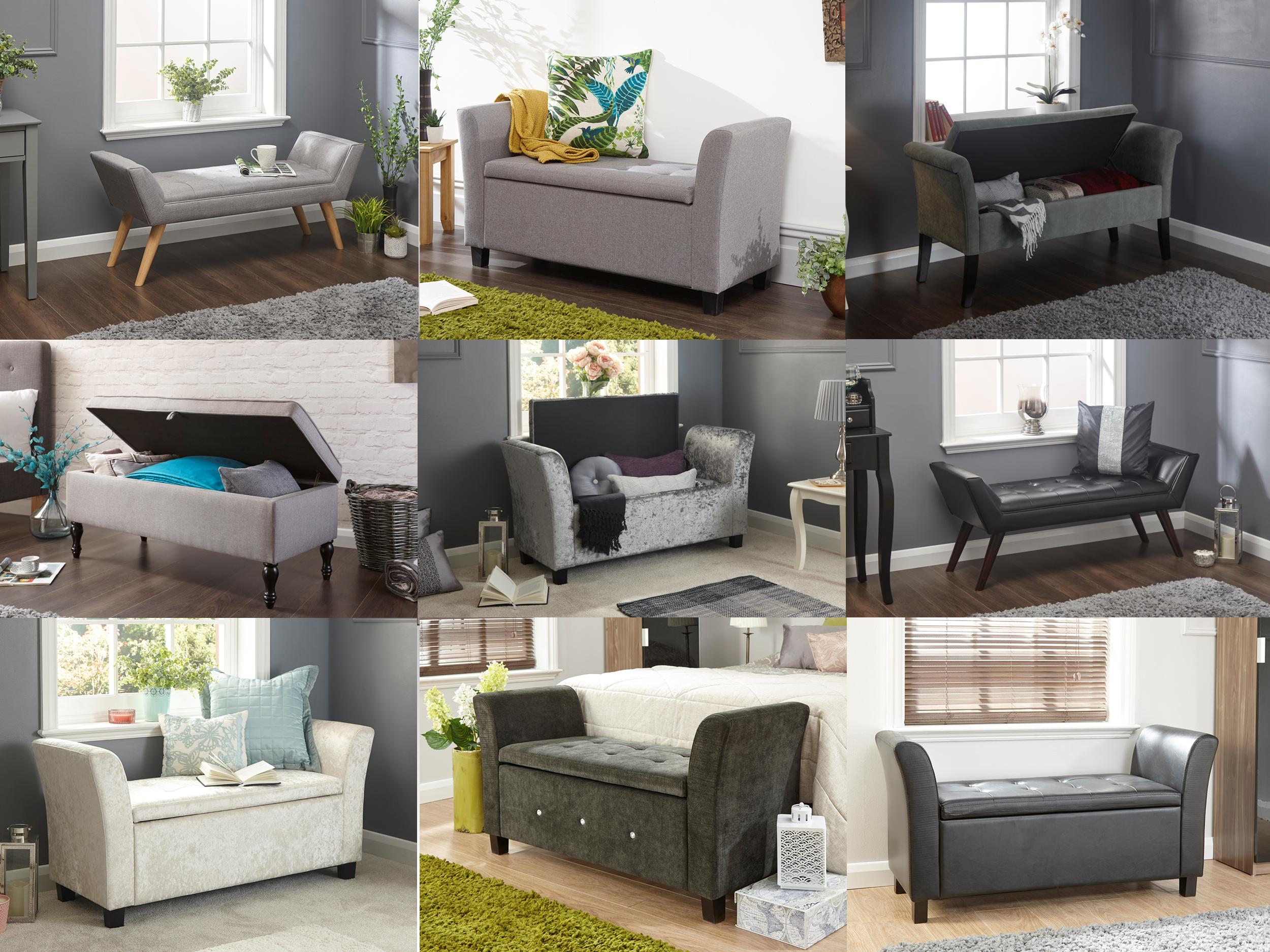window seat benches with storage bedroom ottoman bench