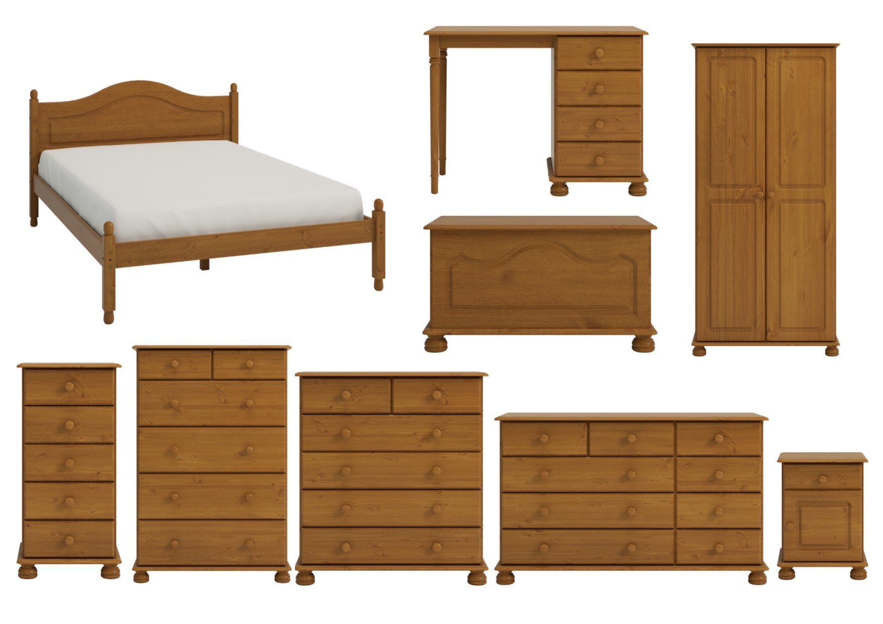 Ss Richmond Solid Pine Bedroom