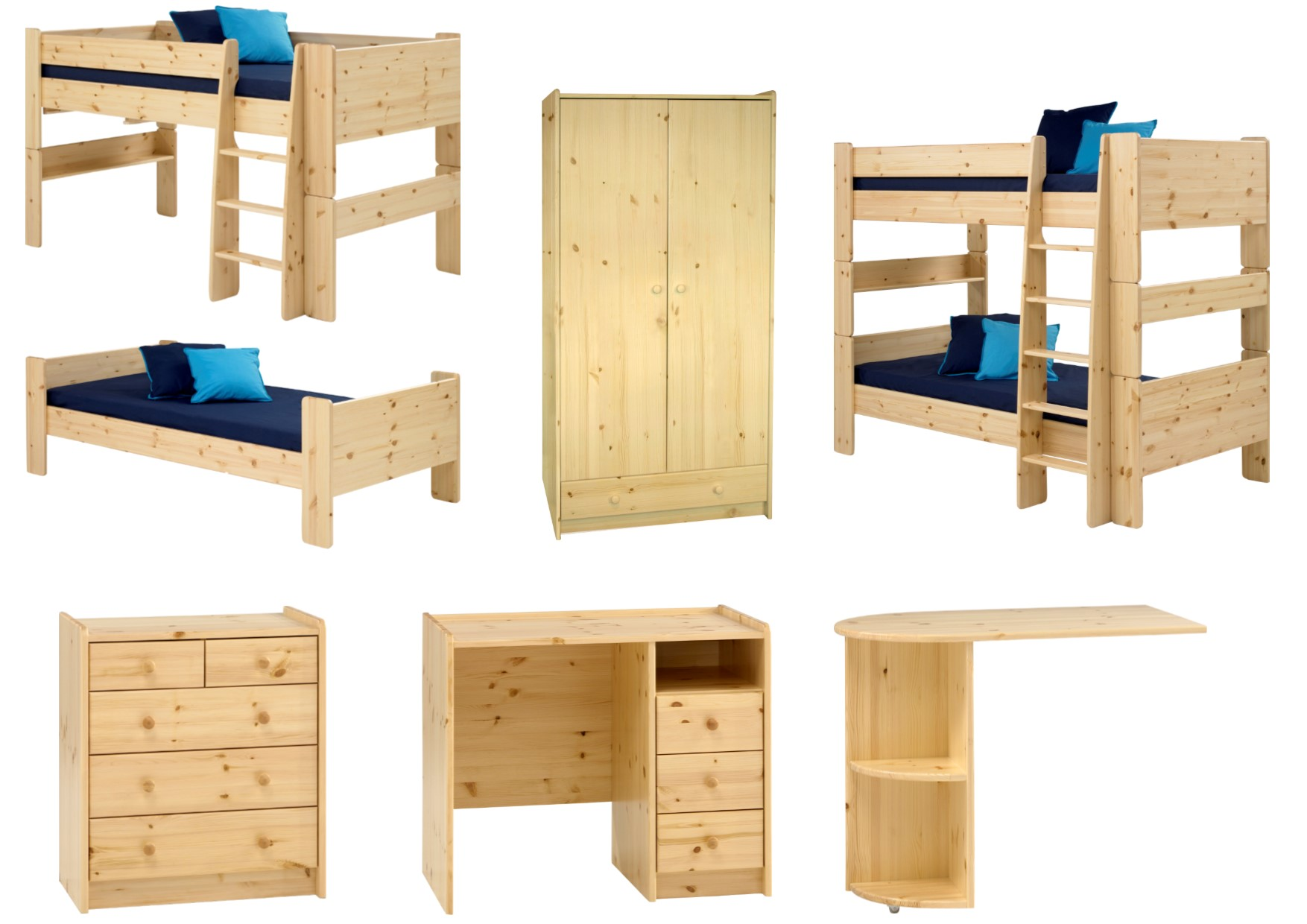 Ss Solid Pine Childrens Bedroom
