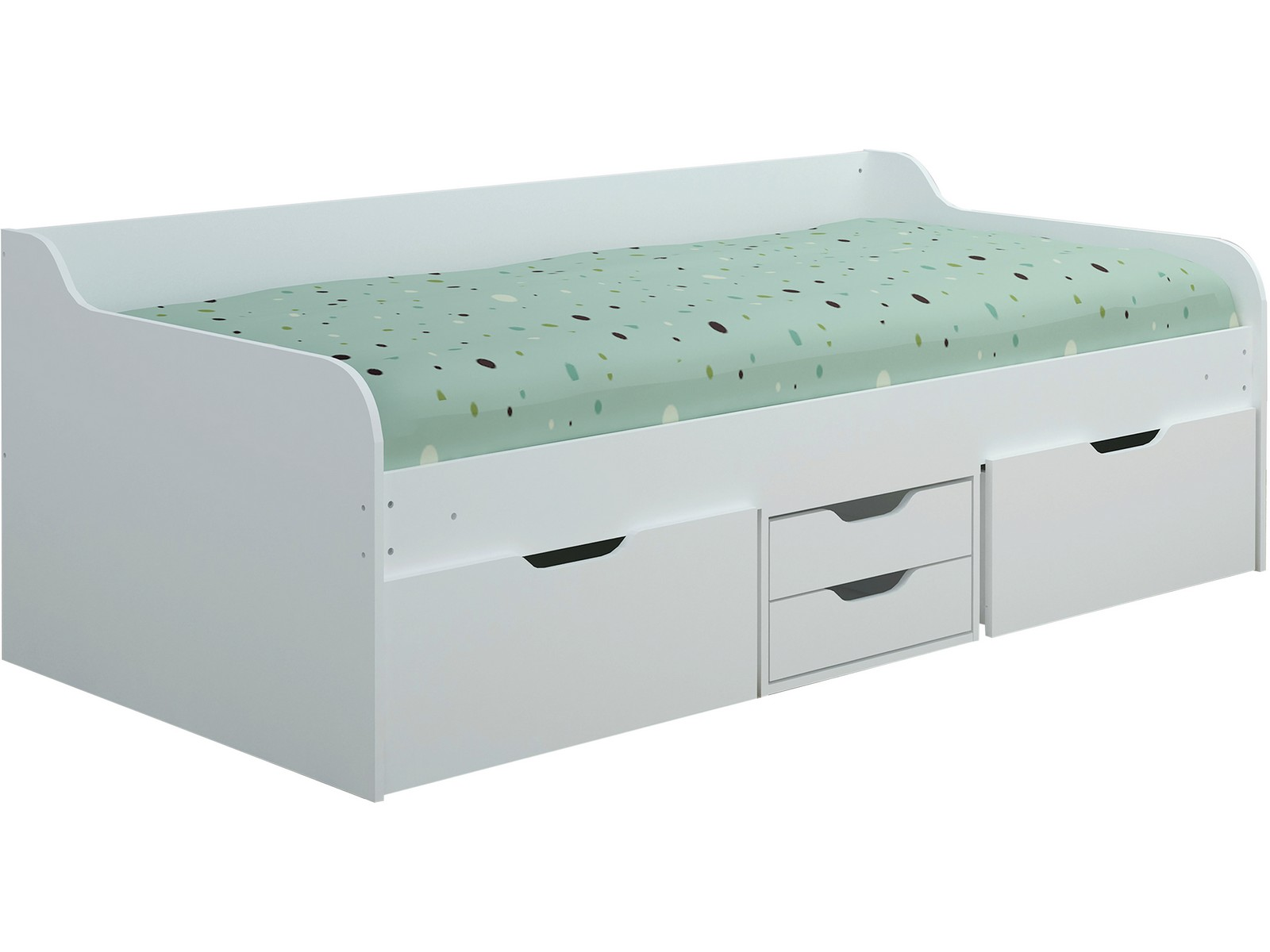 Seconique Dante Single Daybed With Drawers Under Bed Storage 3ft 90cm White Ebay