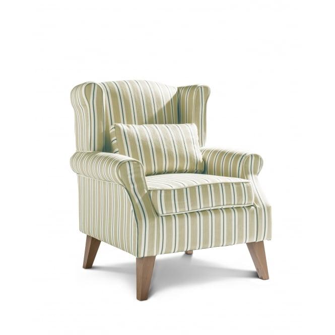 Wroxton Accent Chair Arley Stripe Ochre - Light Legs ...