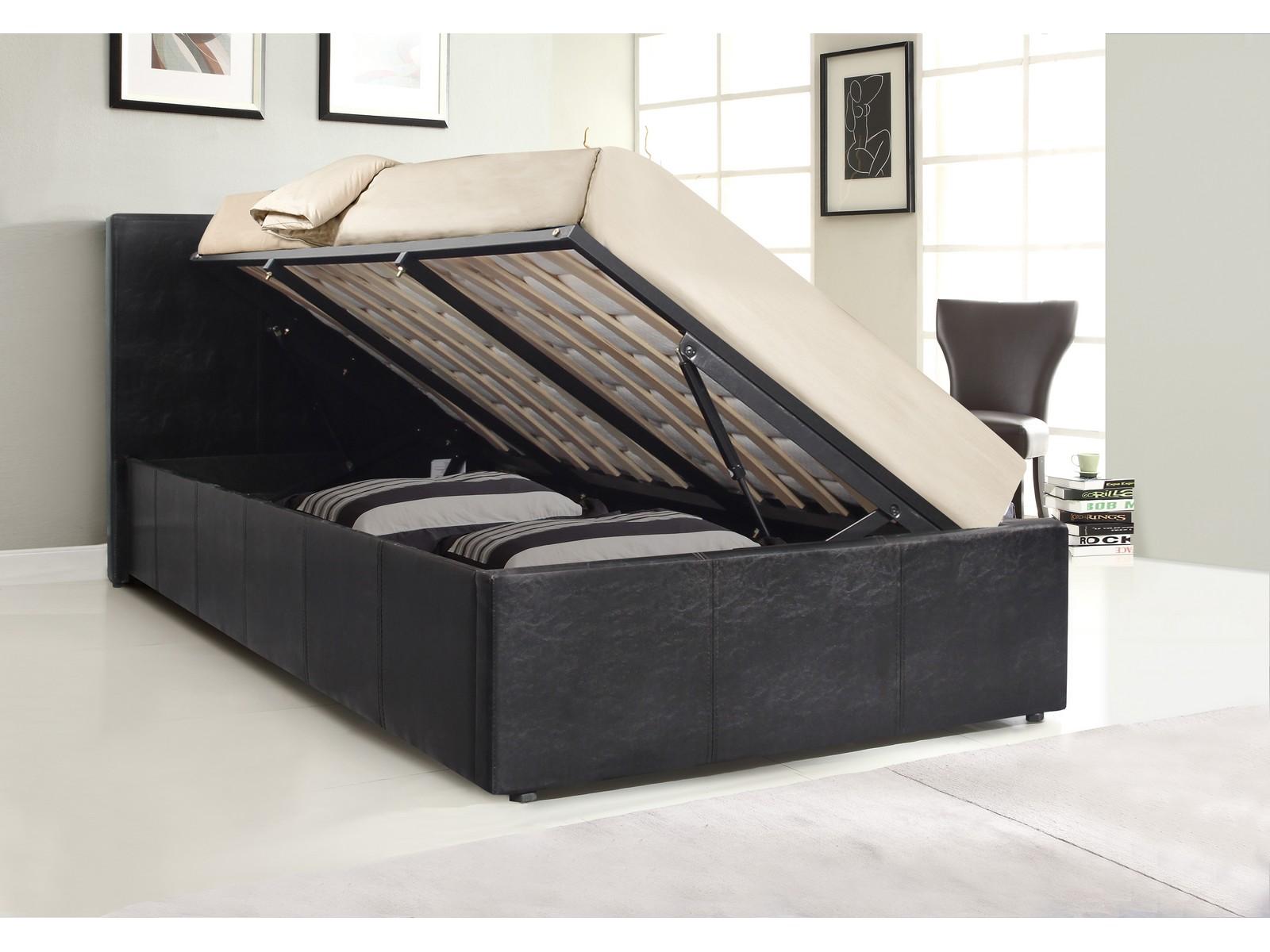 Fine Details About Gator Side Lift Ottoman Bed Mega Storage 3Ft Single Brown Creativecarmelina Interior Chair Design Creativecarmelinacom