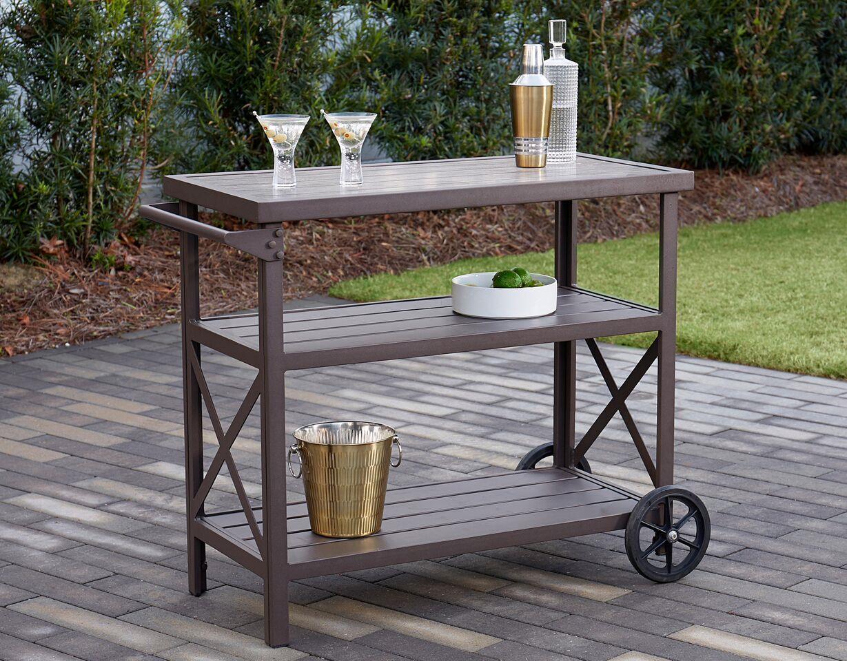 Picture of: Cosco Outdoor Living Farmstead Serving Drinks Bar Cart Dark Brown 44681870606 Ebay