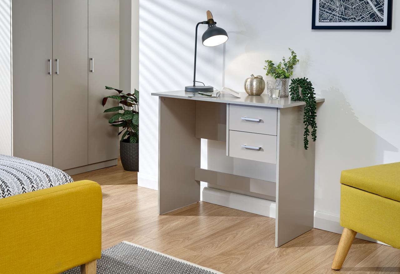 Oak Panama 2 Drawer Home Office//Bedroom Desk