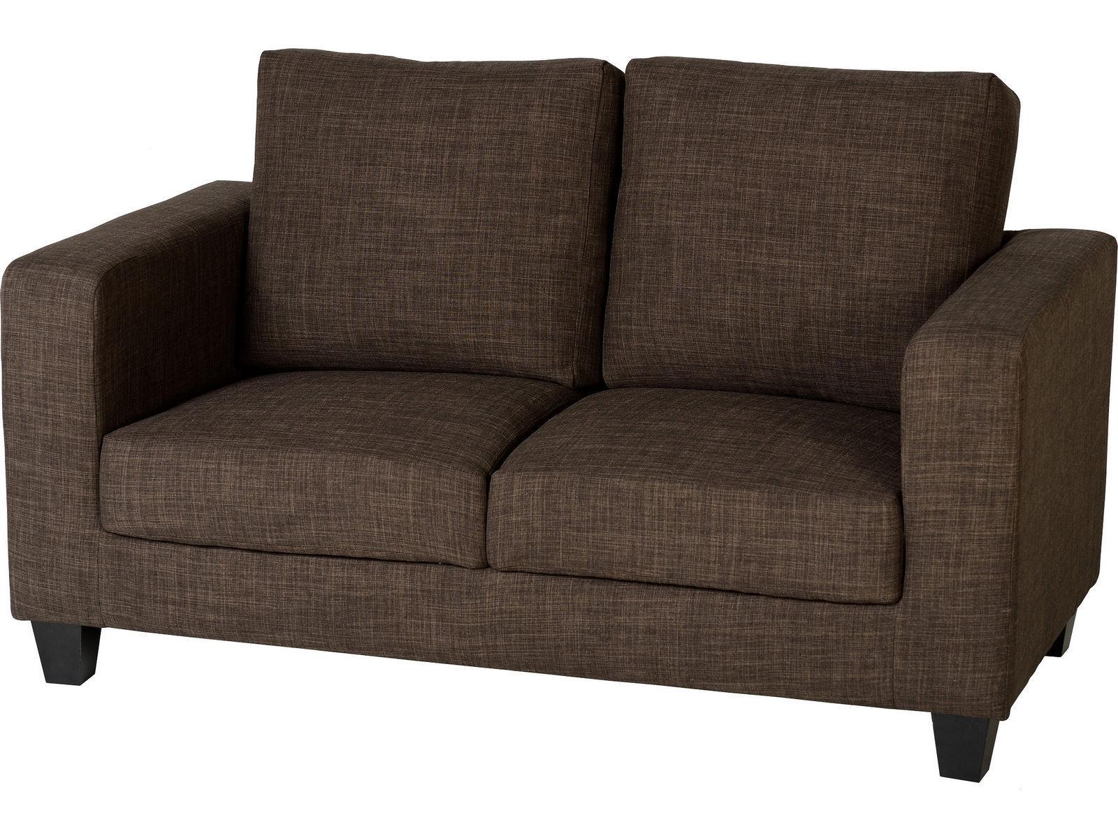 Seconique Tempo 2 Seater Sofa in a Box Dark Brown Fabric Settee