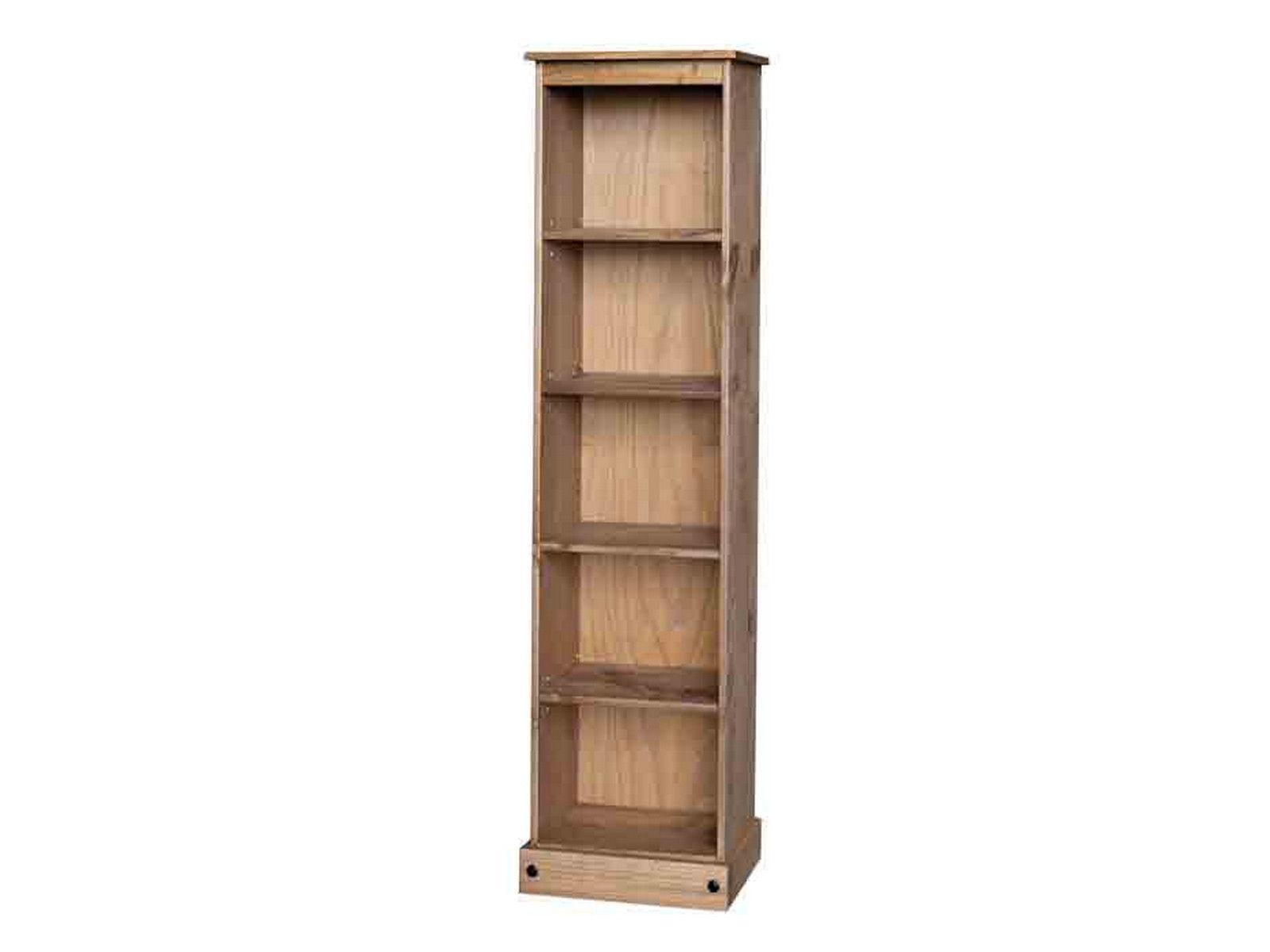 Premium Quality Corona Tall Narrow Bookcase Display