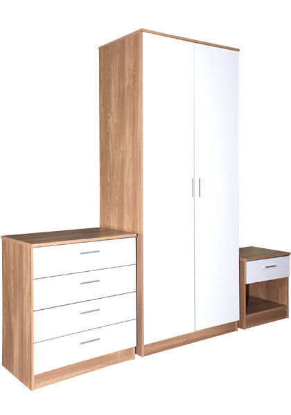 caspian gloss shiny bedroom furniture 2 door wardrobe. Black Bedroom Furniture Sets. Home Design Ideas