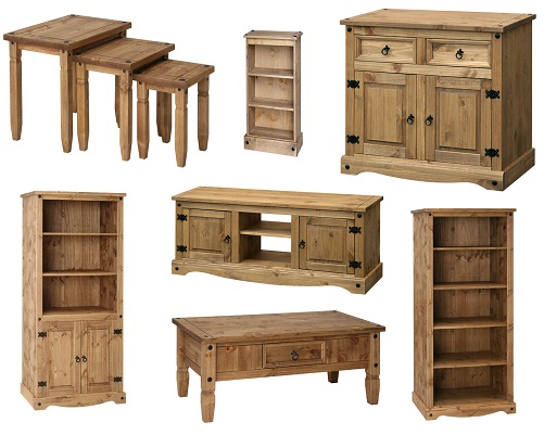 Bon New Superior Quality Corona Mexican Solid Waxed Pine Furniture