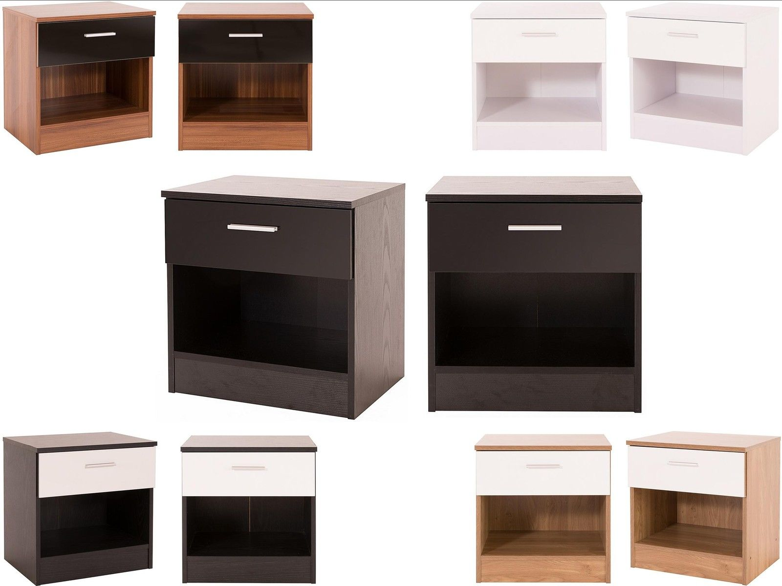 Caspian Supreme High Gloss Pair Of Bedside Cabinets