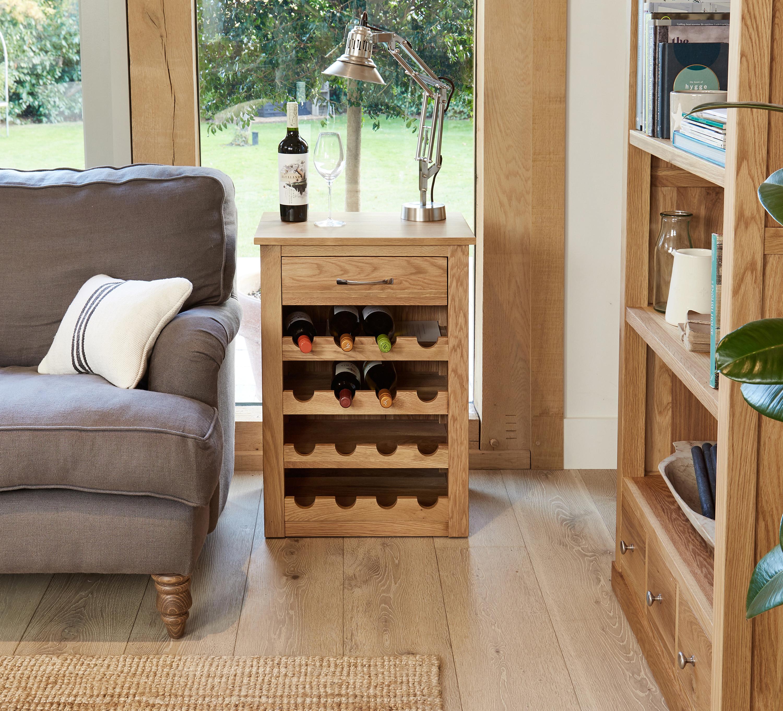 picture mobel oak. Baumhaus Mobel Oak Wine Rack Cabinet - Solid Holds 20 Bottles Picture