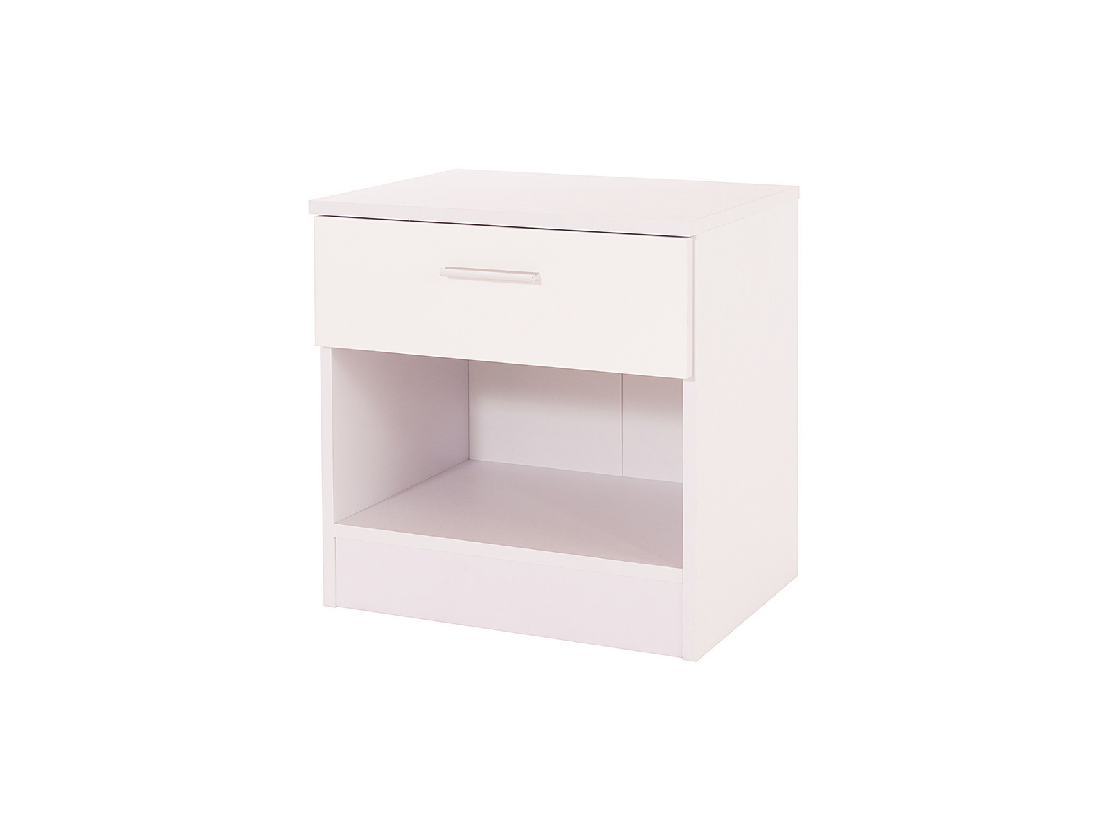 Caspian Supreme White High Gloss Bedside Cabinet With