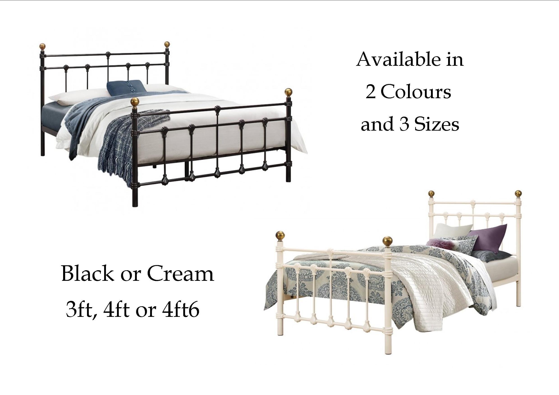 Birlea Atlas Metal Bed 3ft Single 4ft Small Double 4ft6
