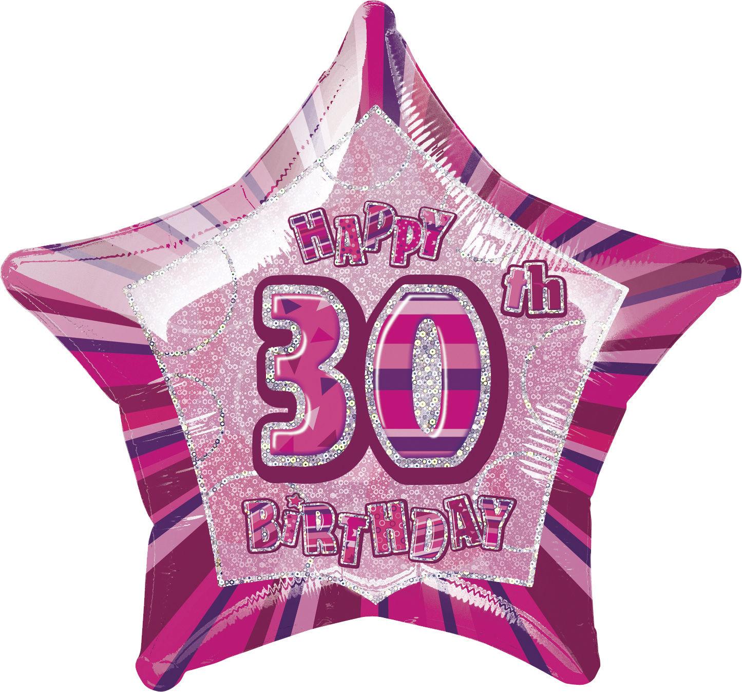 Glitz Black//Silver 30th Birthday Party Tableware Decoration Plates Banners Age30