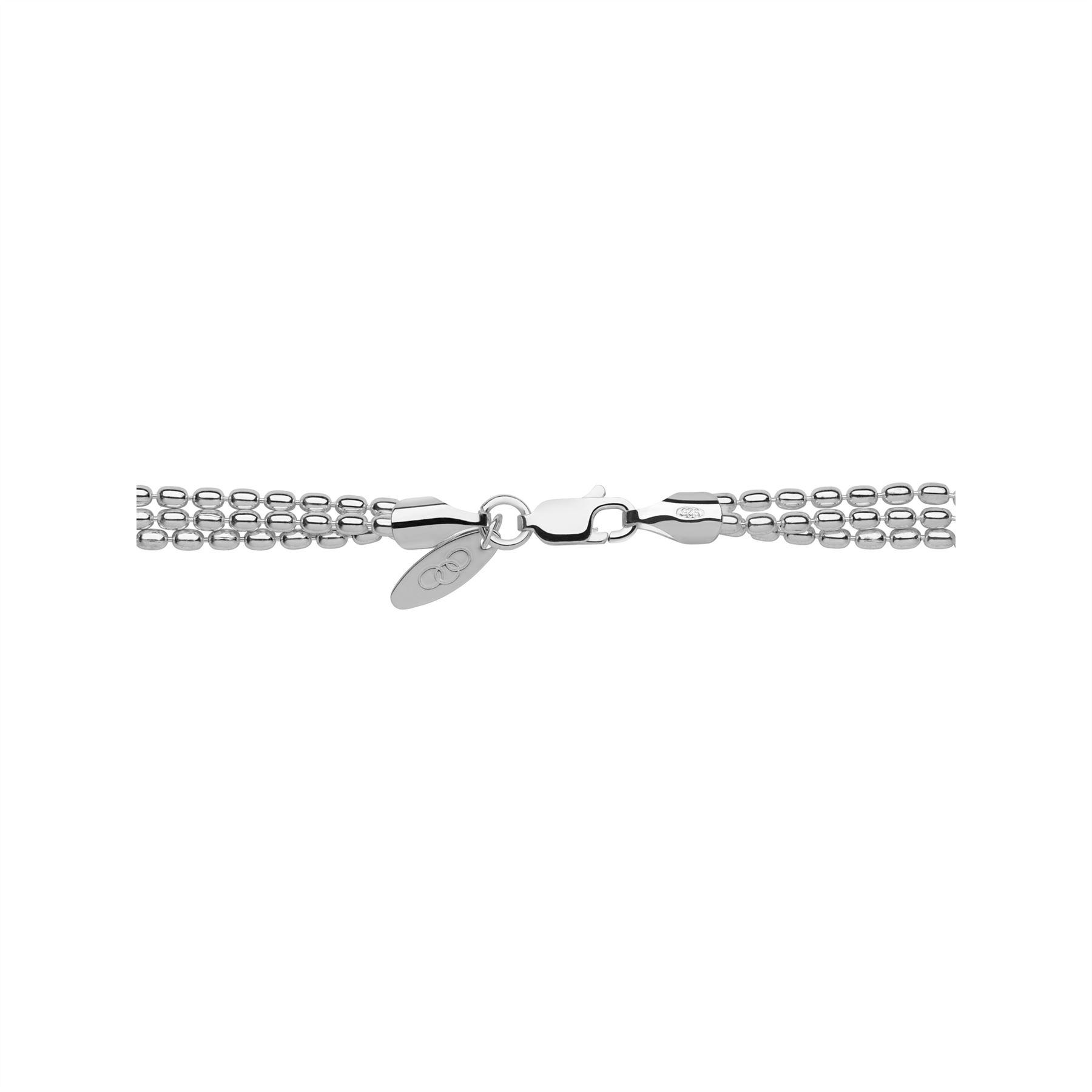 025ed7633971c Links of London Sterling Silver Mini Oval 3Row Bracelet ...
