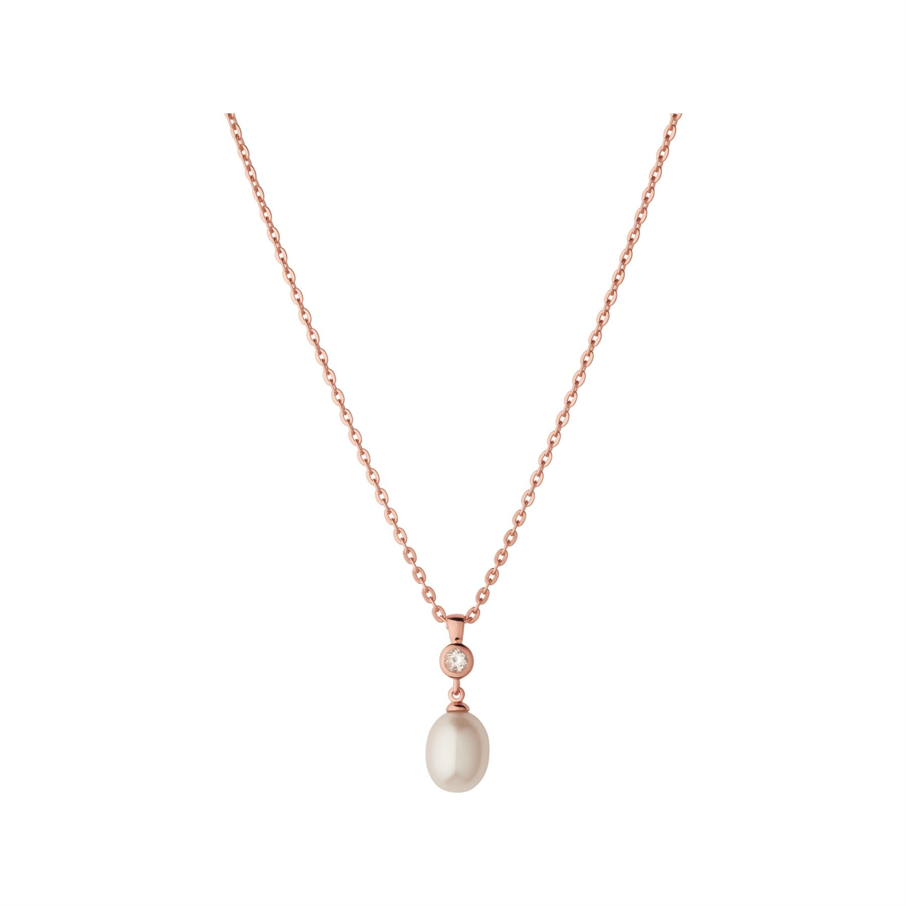 Links of london rose gold fine necklaces pendants ebay links of london ladies pearl rose gold vermeil white topaz necklace jewellery mozeypictures Choice Image
