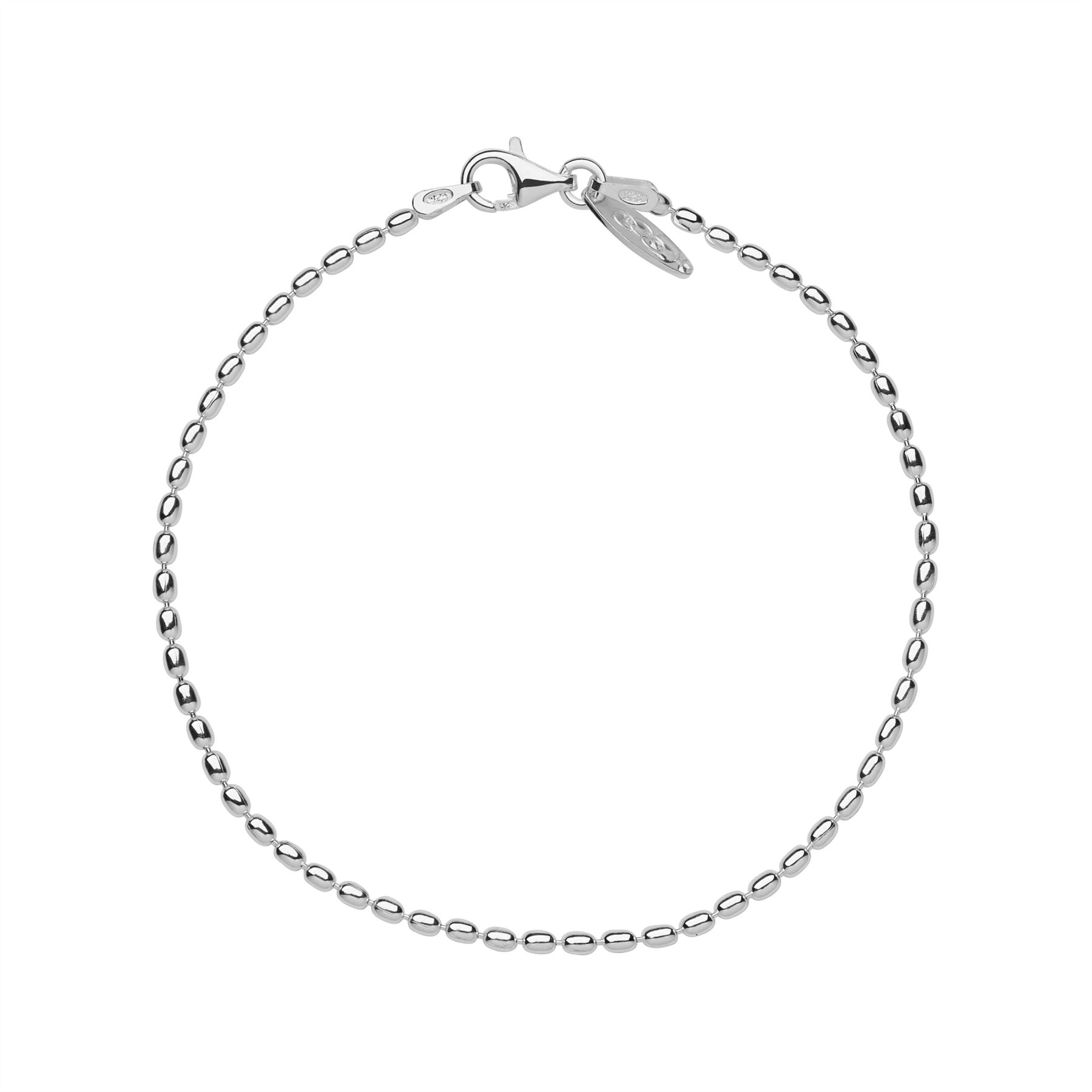 """Details about Links of London Womens Essentials Sterling Silver Oval Ball  Chain Bracelet 7.5"""" 638ad69ae"""
